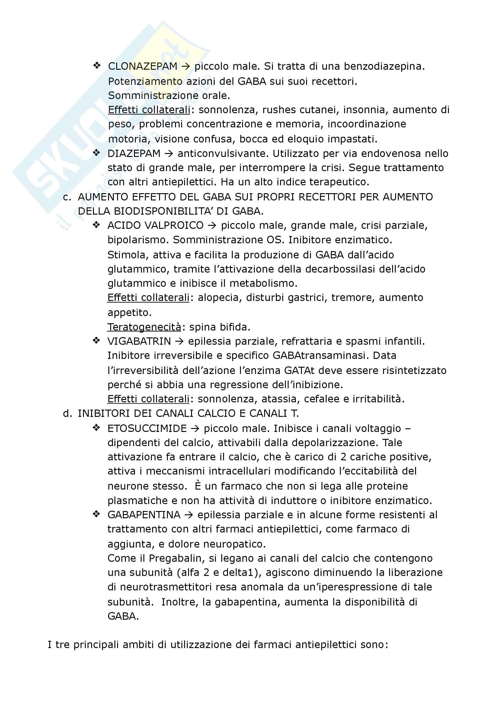 Riassunto esame Psicofarmacologia, prof. Chiarugi, Blandina, Geppetti e Corradetti, libro consigliato Farmacologia, Govoni S Pag. 16