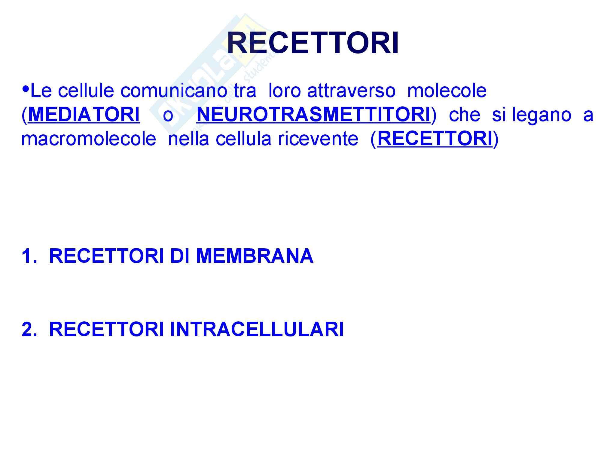 Fisioterapia - Farmacologia-recettori