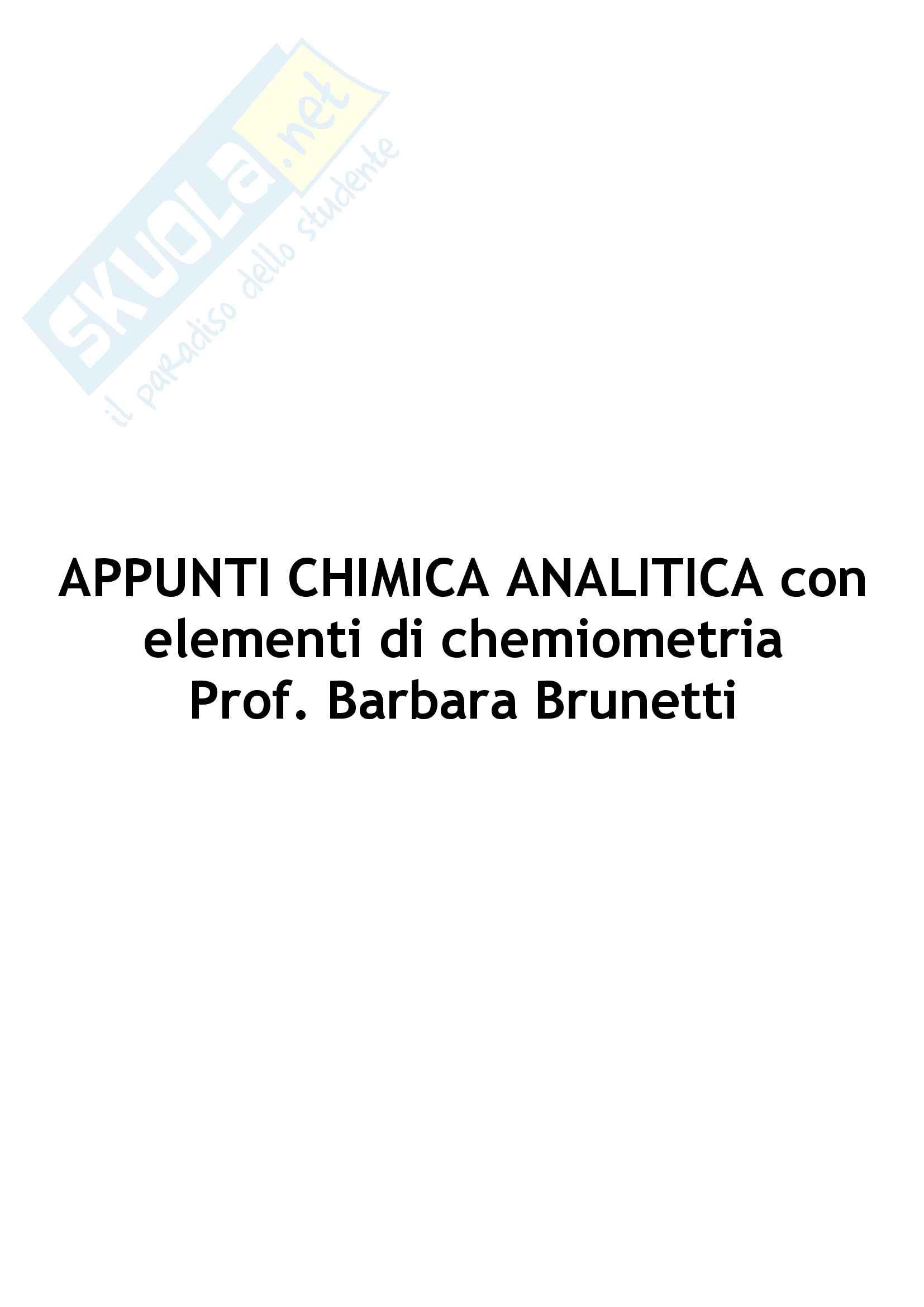 Chimica analitica con elementi di chemiometria