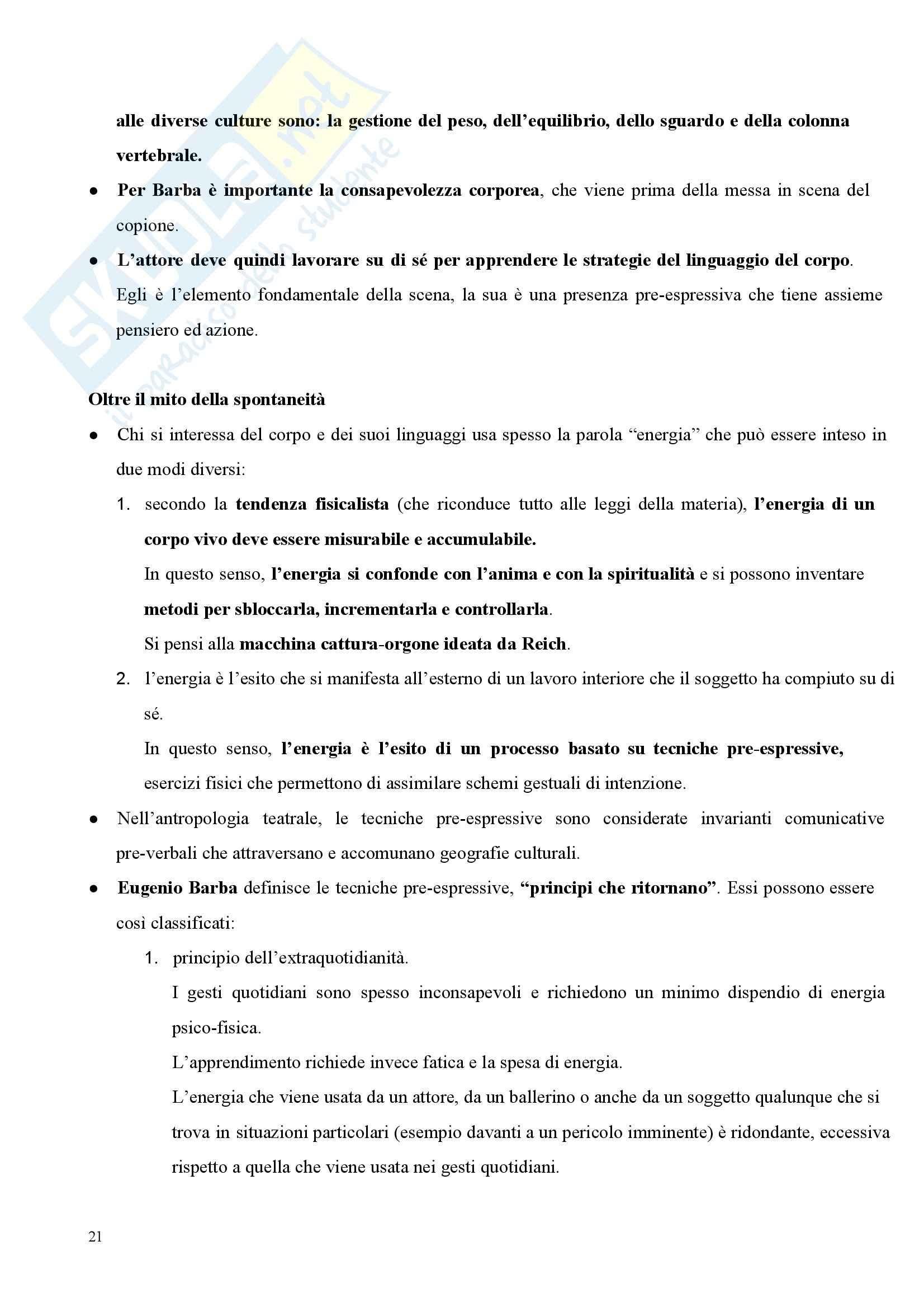 Riassunto esame Pedagogia del corpo, prof. Gamelli, libro consigliato Sensibili al corpo: I gesti della formazione e della cura Pag. 21