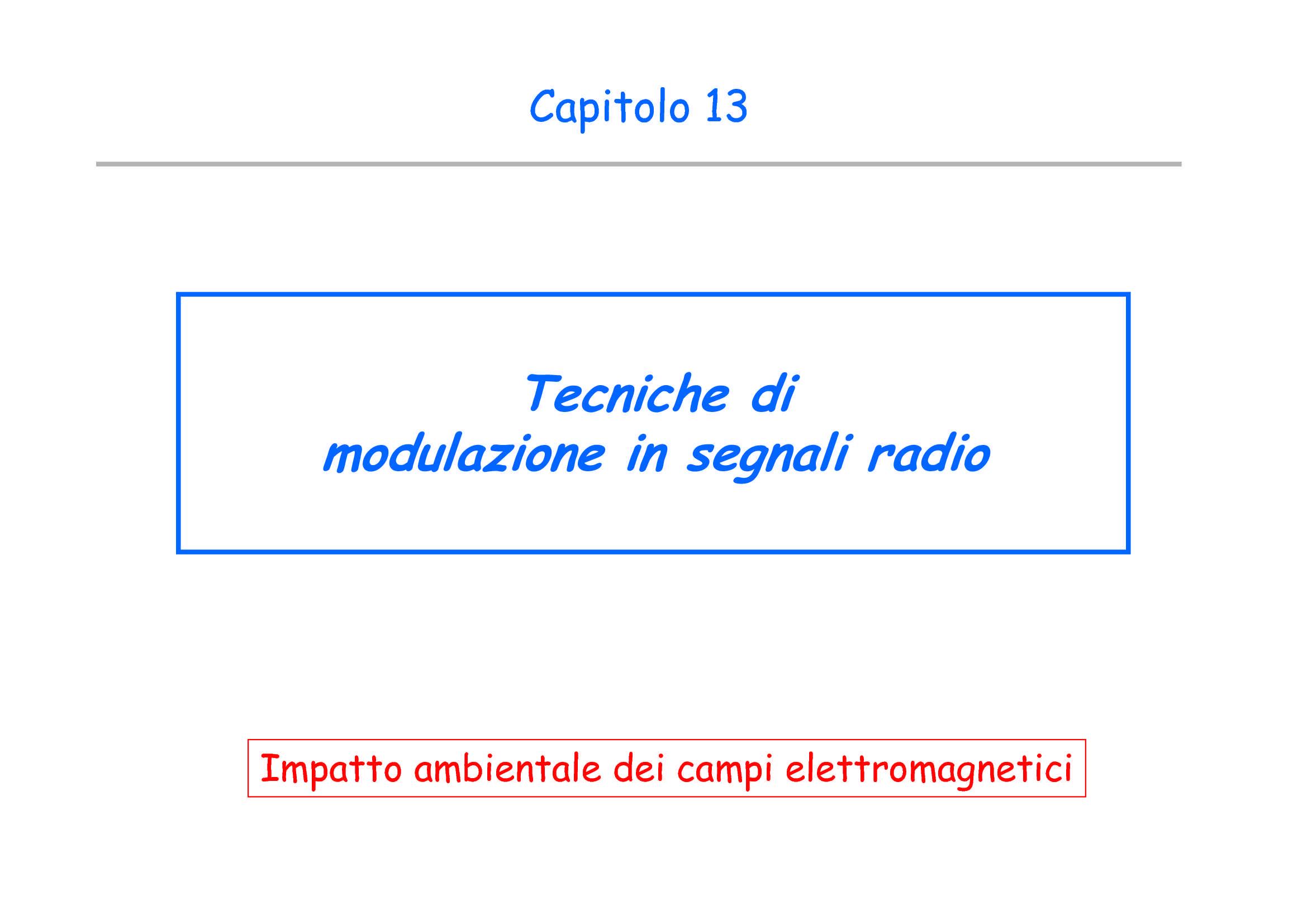 Misura di campi elettromagnetici - Modulazione di segnali
