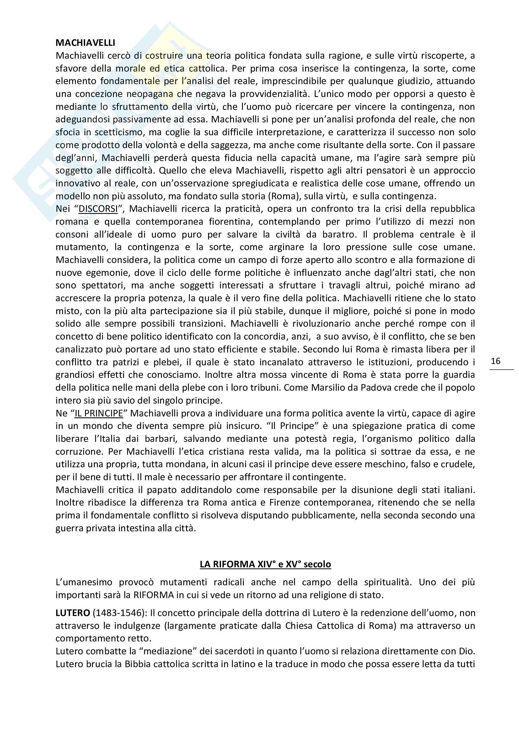 Appunti di Storia delle dottrine politiche Pag. 16