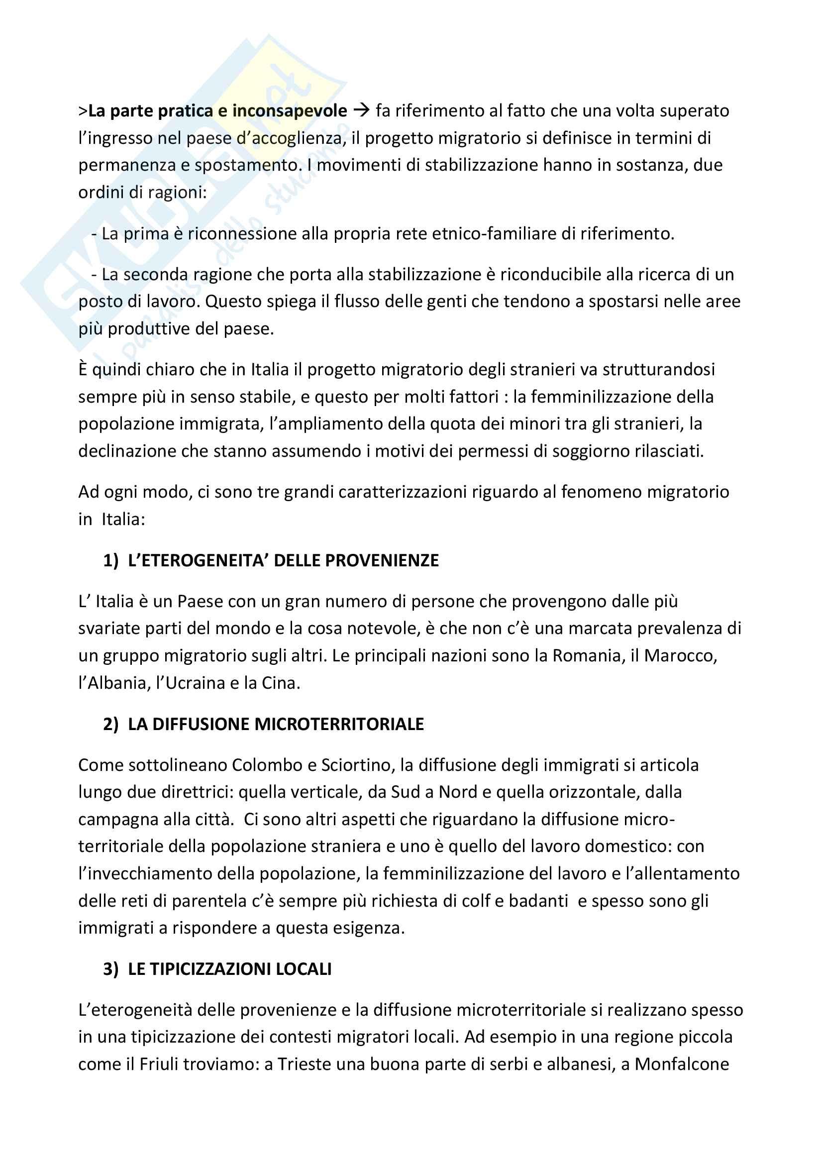 """Riassunto esame Pedagogia Interculturale, Prof. Luca Agostinetto, Libro consigliato """" l'intercultura in bilico:scienza,incoscienza e sostenibilità dell'immigrazione"""", Agostinetto Pag. 11"""