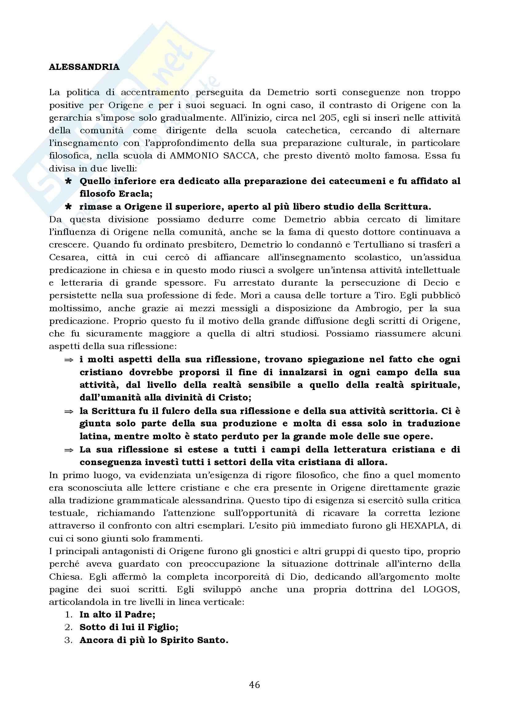 Riassunto esame Storia del Cristianesimo Antico e Medievale, prof. Colombi, libro consigliato Il Vangelo e la Storia, Simonetti Pag. 46