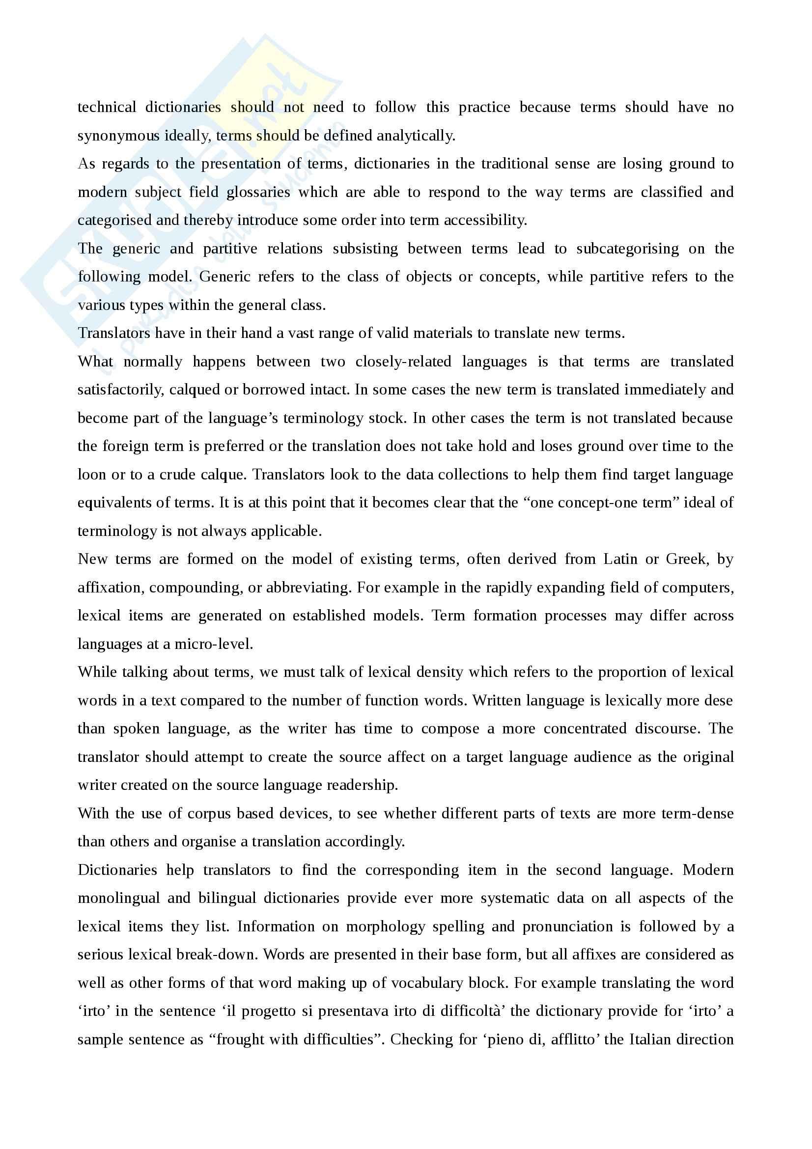 Riassunto esame Inglese, prof. Spinzi, libro consigliato English, Language and Communication, Spinzi Pag. 11