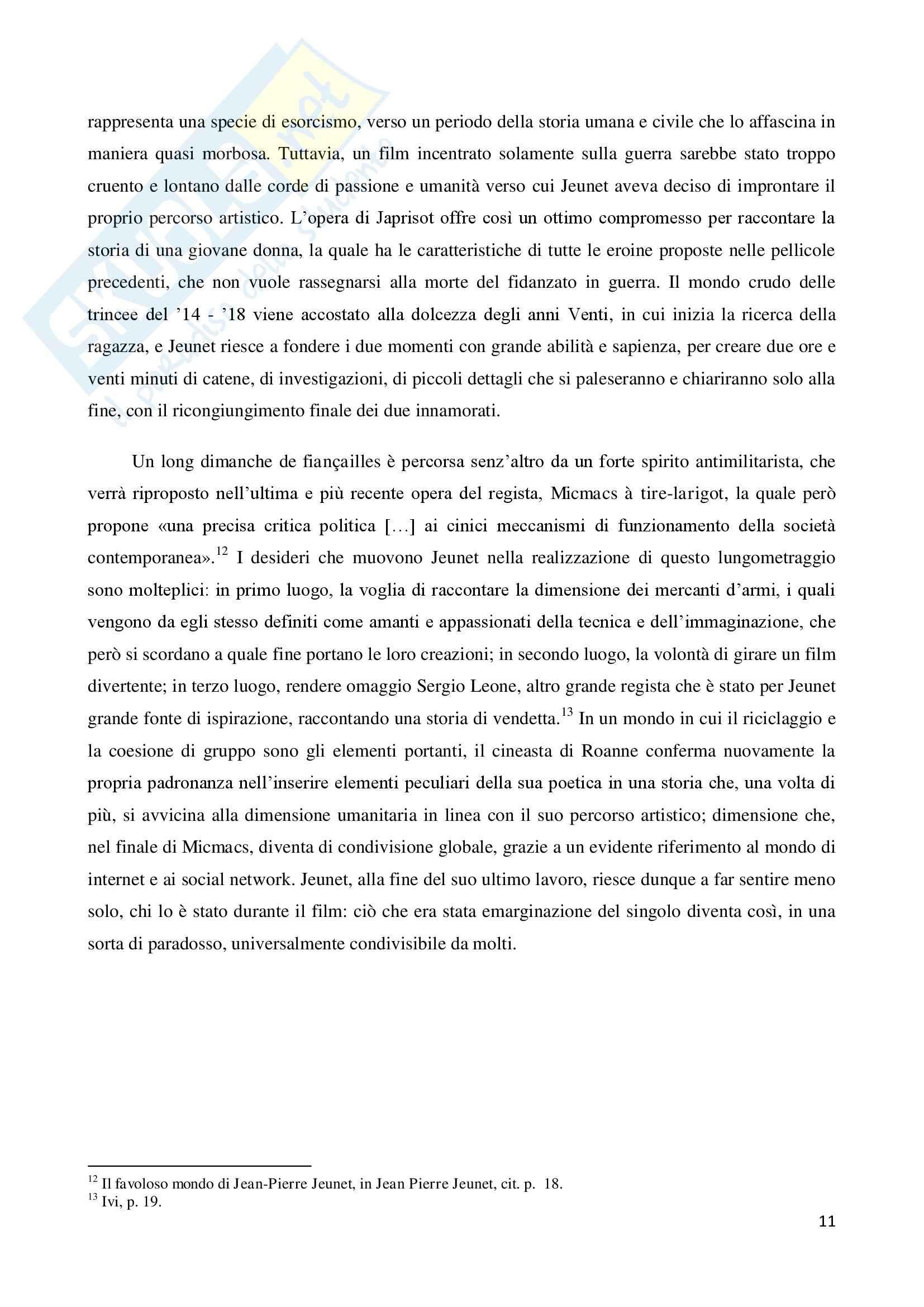 La marginalità delle esistenze nel cinema di Jean Pierre Jeunet, tesi Pag. 11