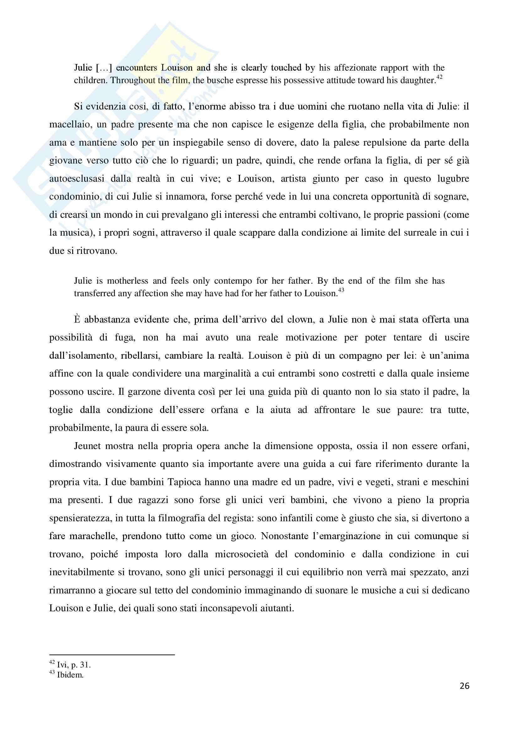 La marginalità delle esistenze nel cinema di Jean Pierre Jeunet, tesi Pag. 26