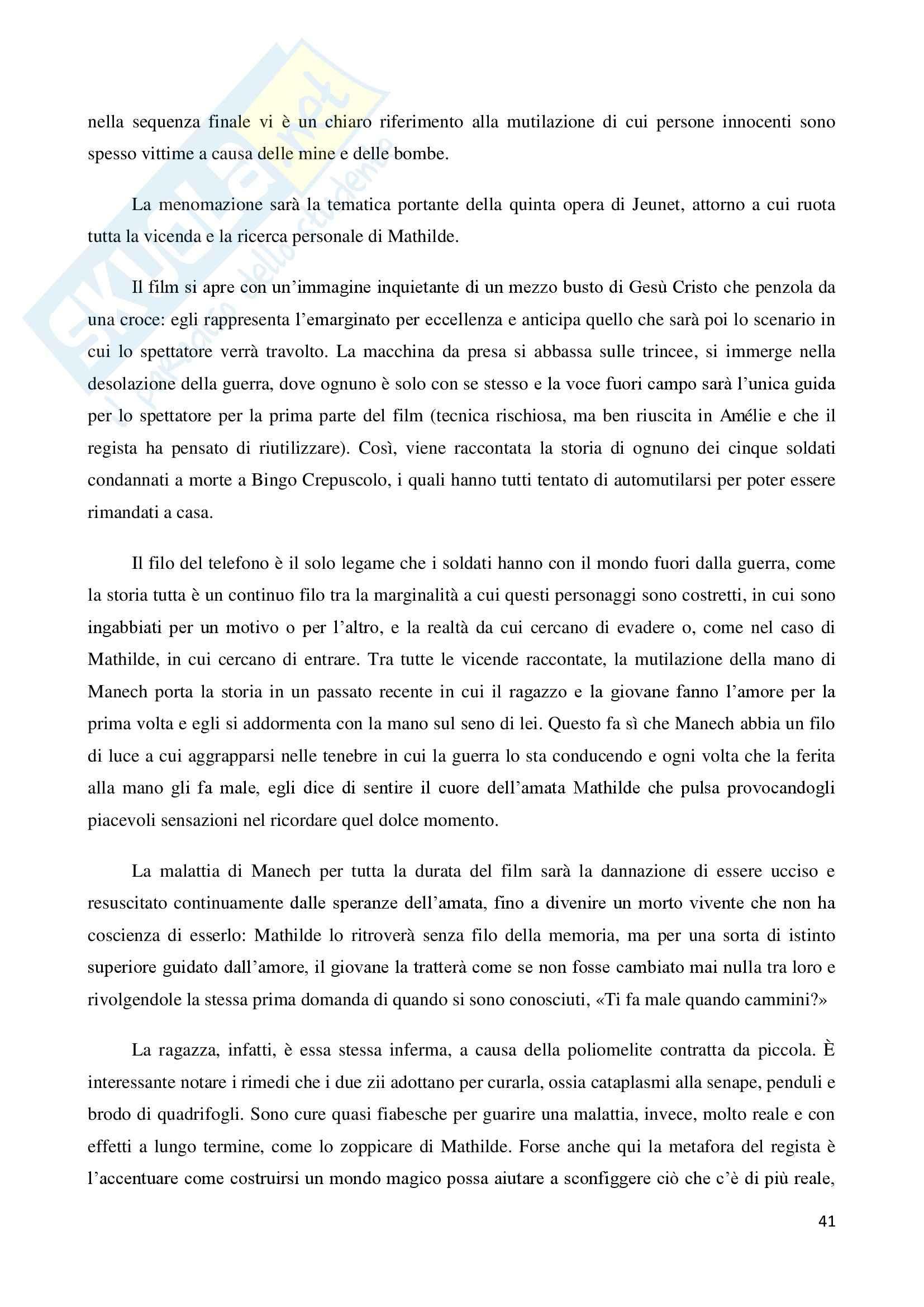 La marginalità delle esistenze nel cinema di Jean Pierre Jeunet, tesi Pag. 41