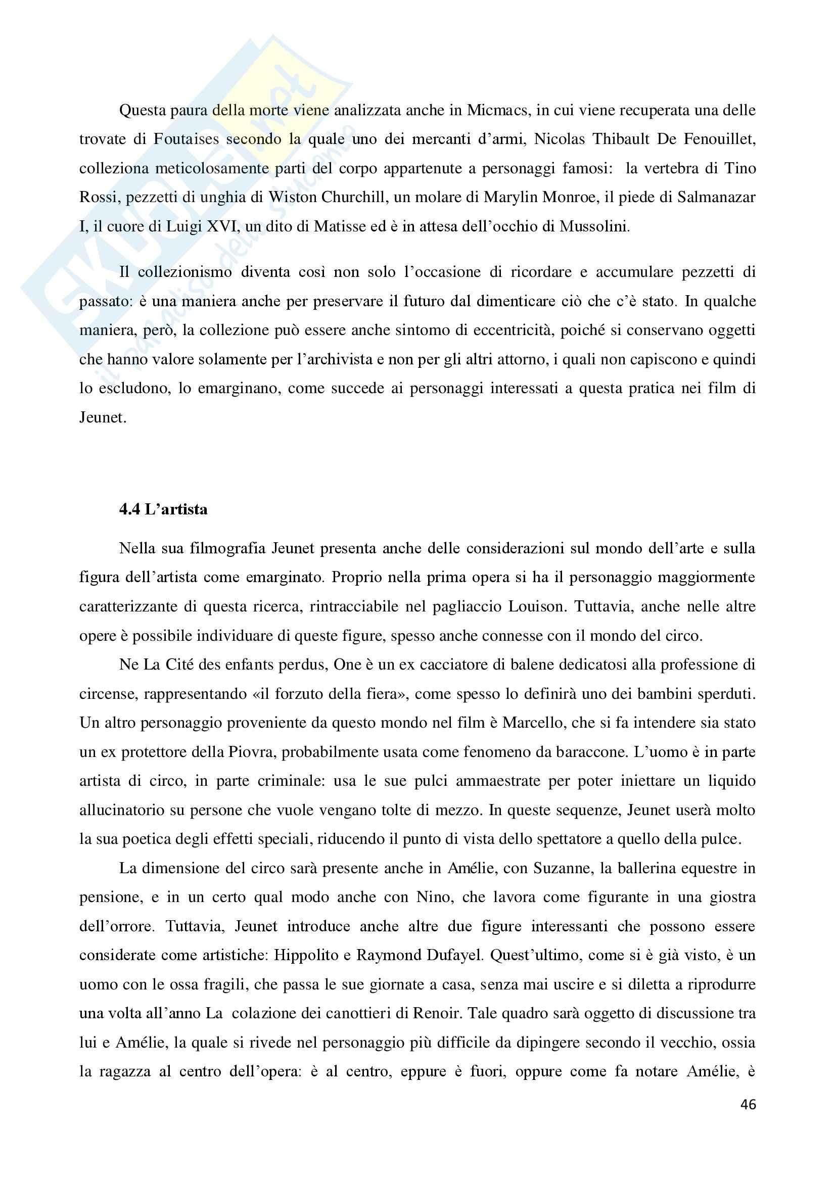 La marginalità delle esistenze nel cinema di Jean Pierre Jeunet, tesi Pag. 46