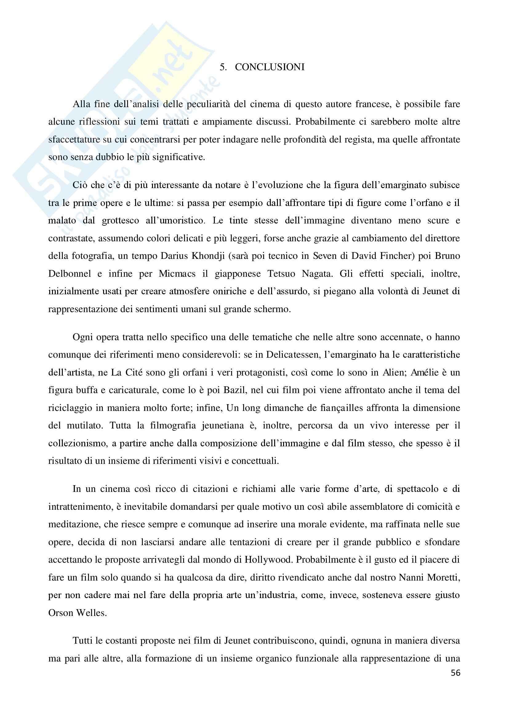 La marginalità delle esistenze nel cinema di Jean Pierre Jeunet, tesi Pag. 56