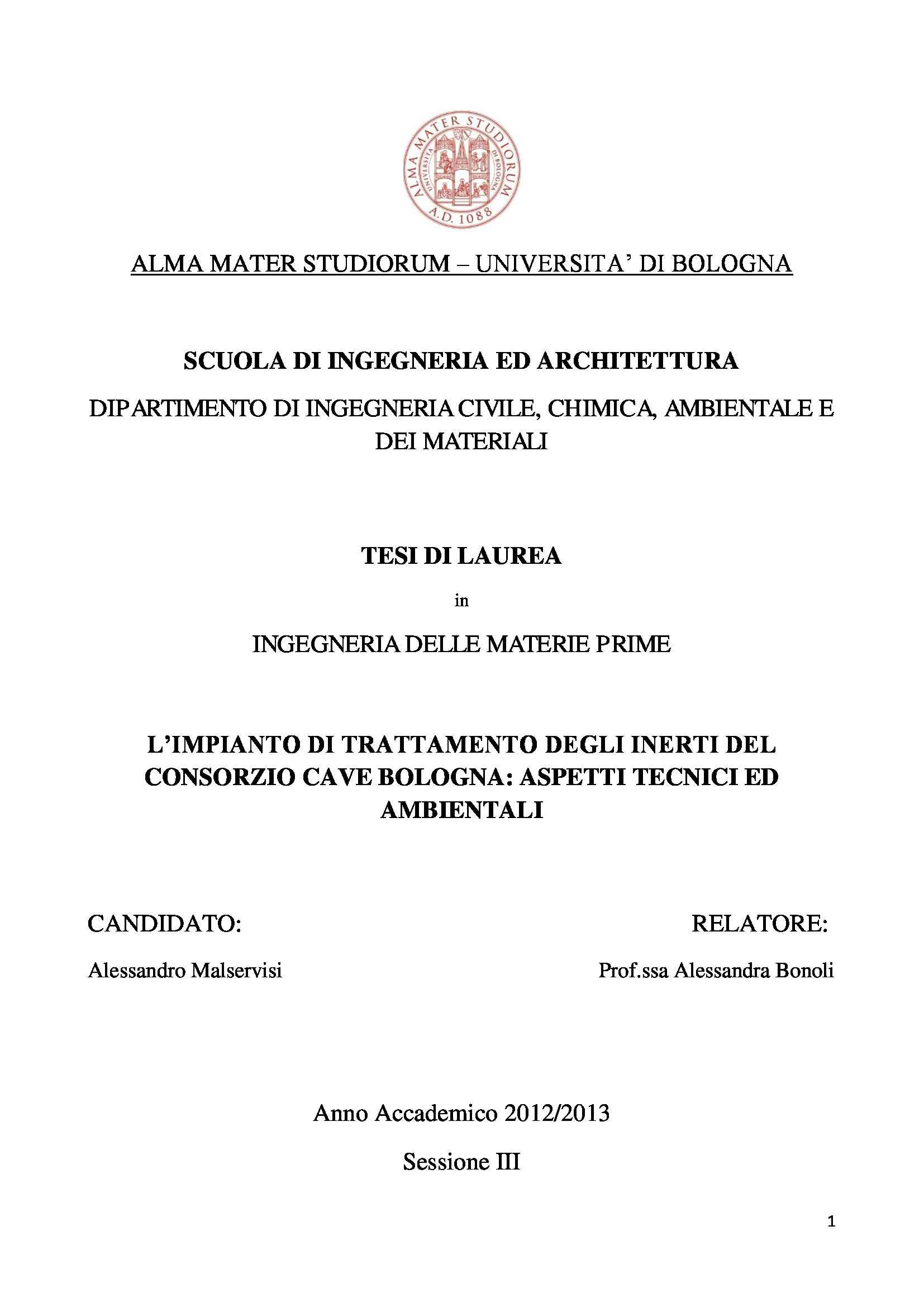 tesi A. Bonoli Ingegneria delle materie prime