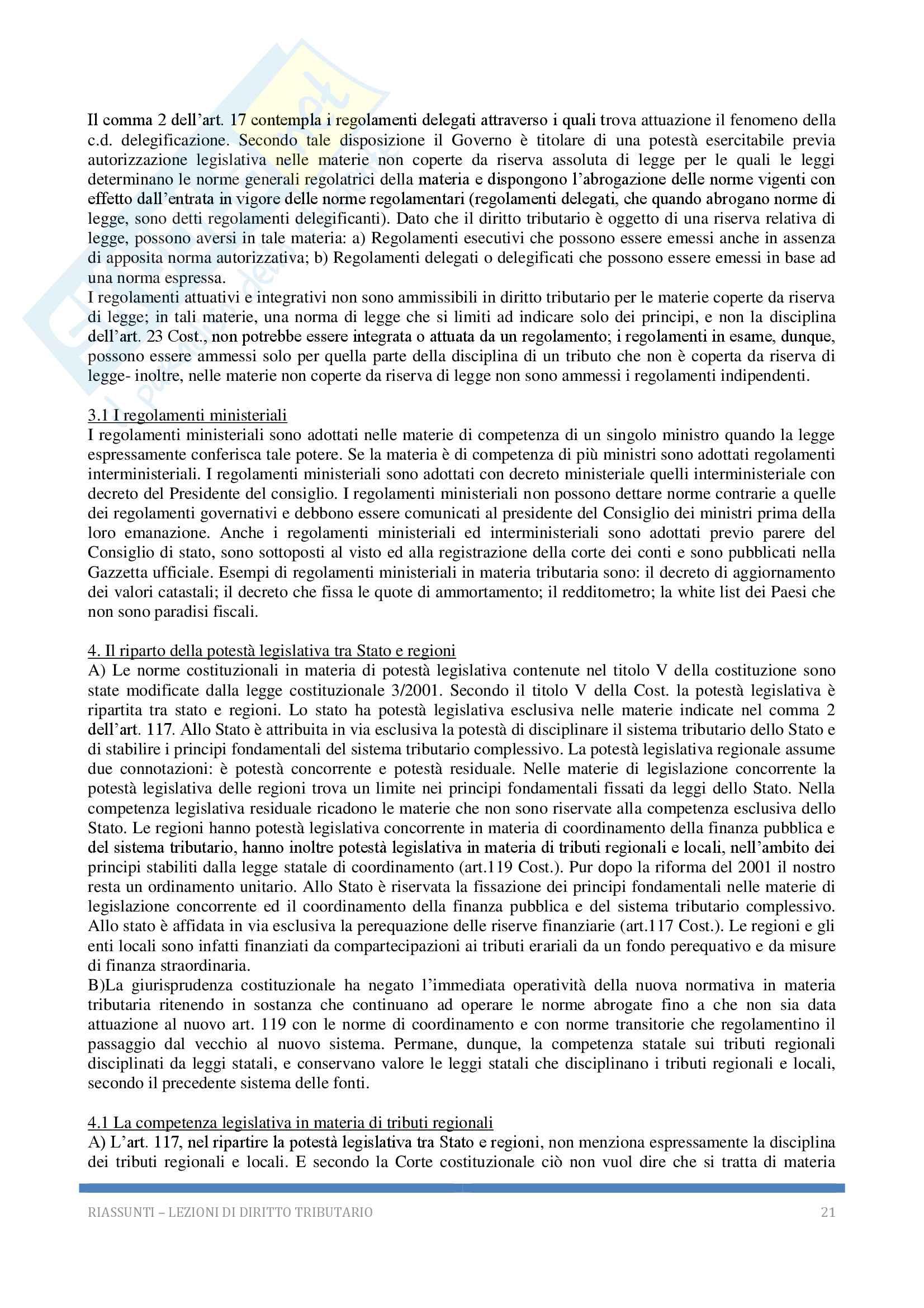 Riassunto esame Diritto tributario, Docente G. Melis, 2017! Pag. 21