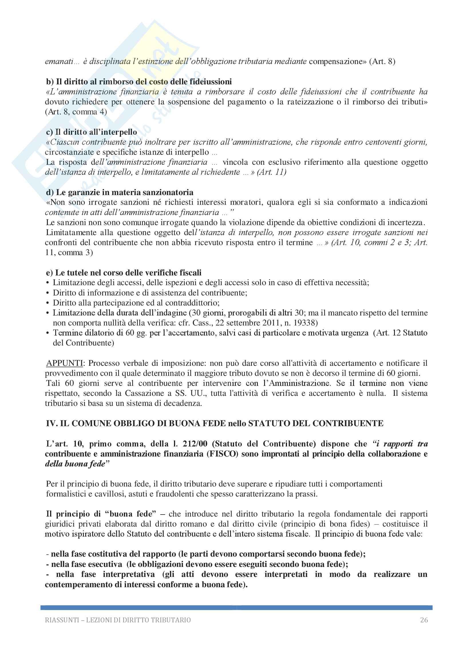 Riassunto esame Diritto tributario, Docente G. Melis, 2017! Pag. 26