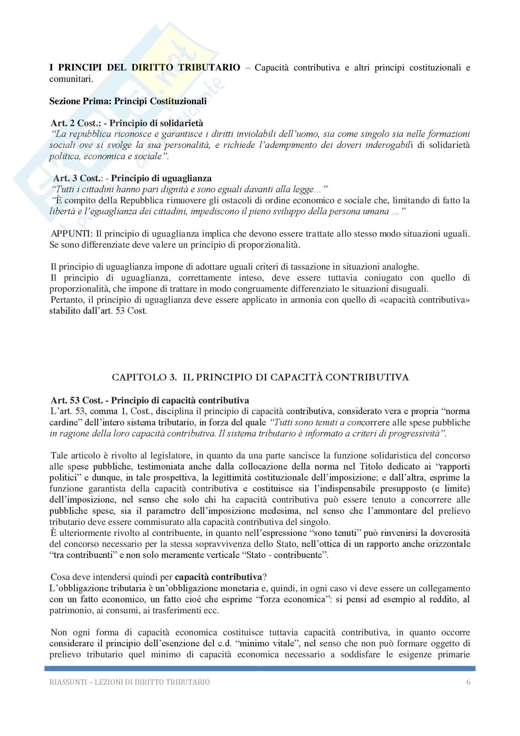 Riassunto esame Diritto tributario, Docente G. Melis, 2017! Pag. 6