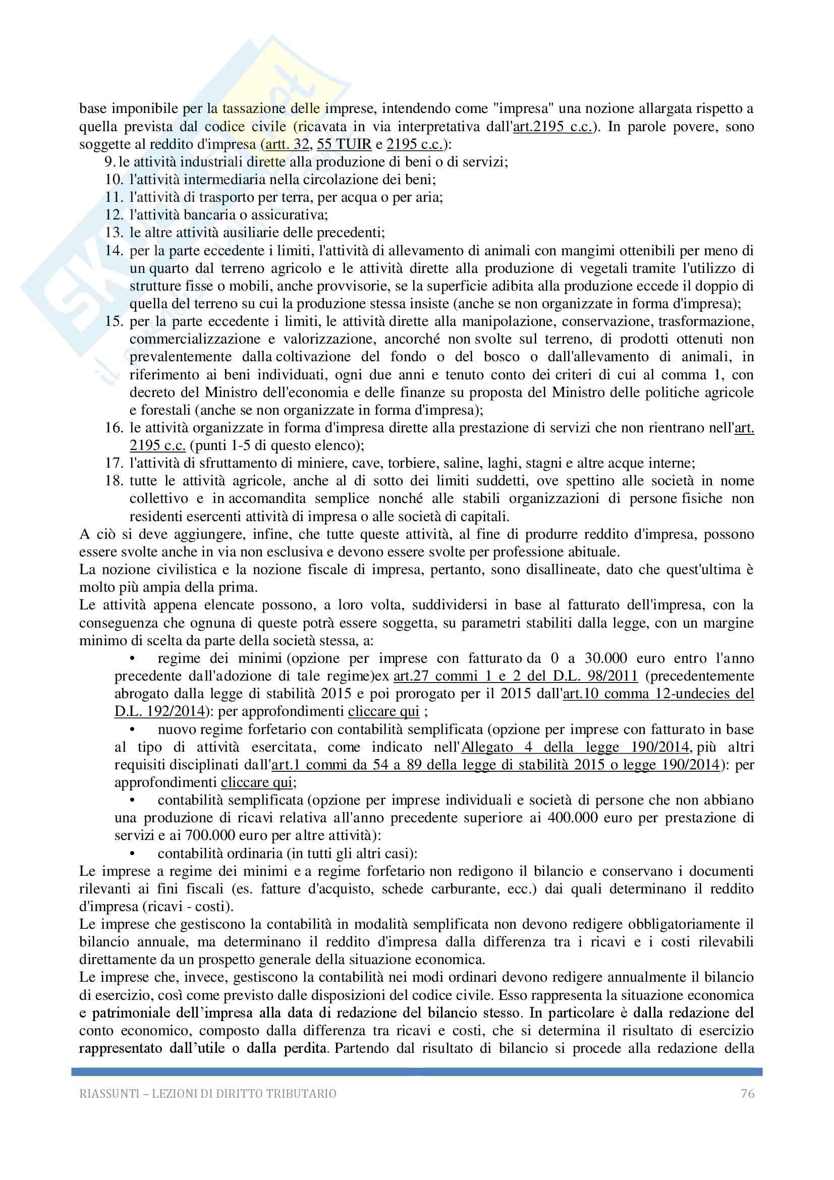 Riassunto esame Diritto tributario, Docente G. Melis, 2017! Pag. 76