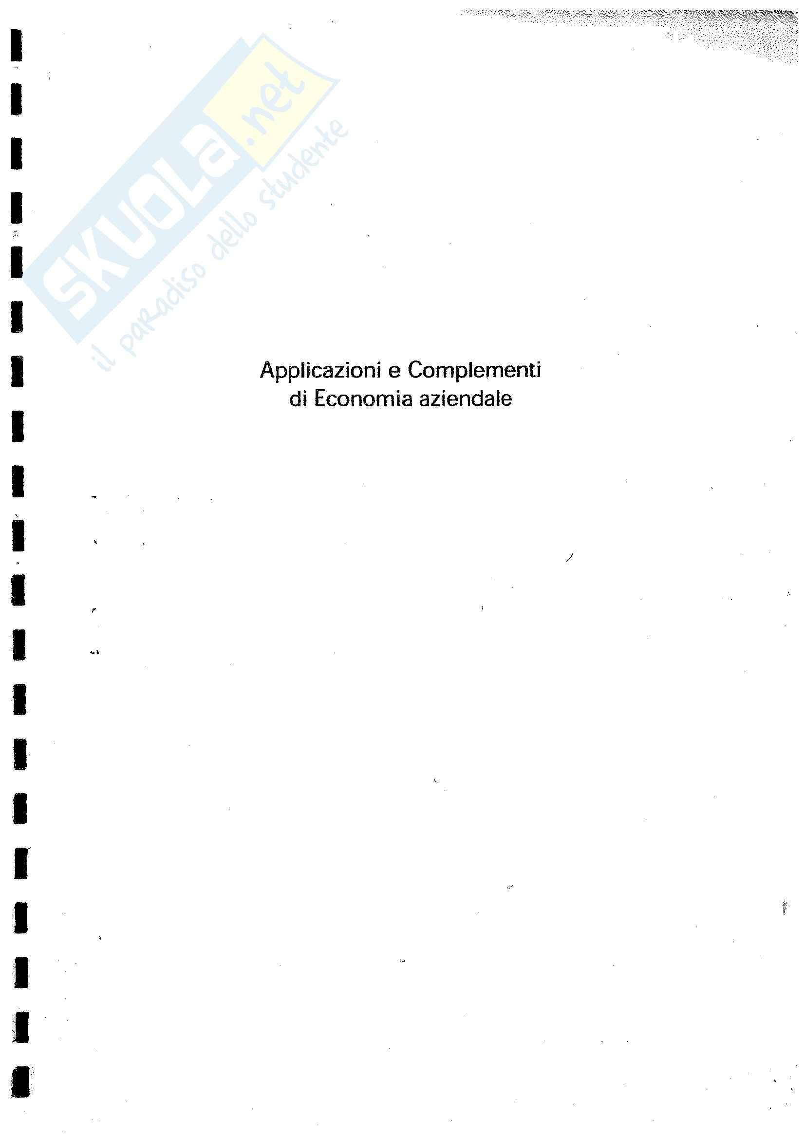 esercitazione F. Manes Rossi Economia aziendale e metodologie quantitative d'azienda