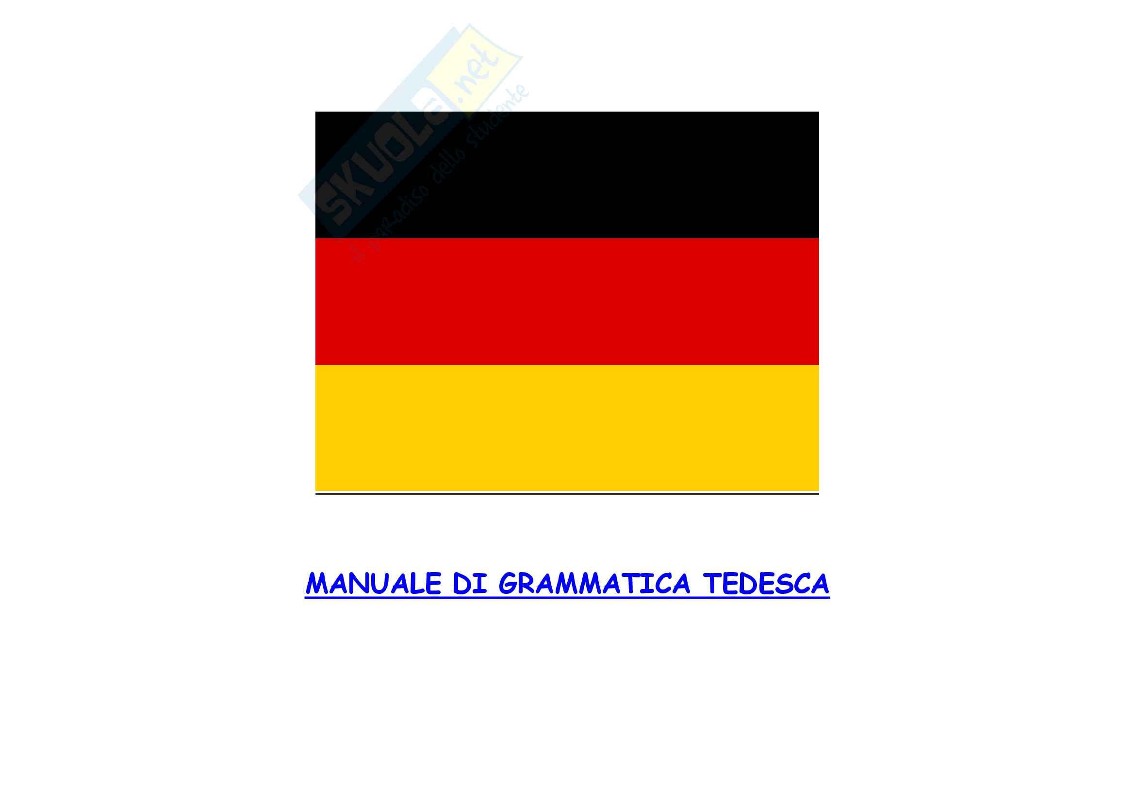 Schemi di grammatica tedesca