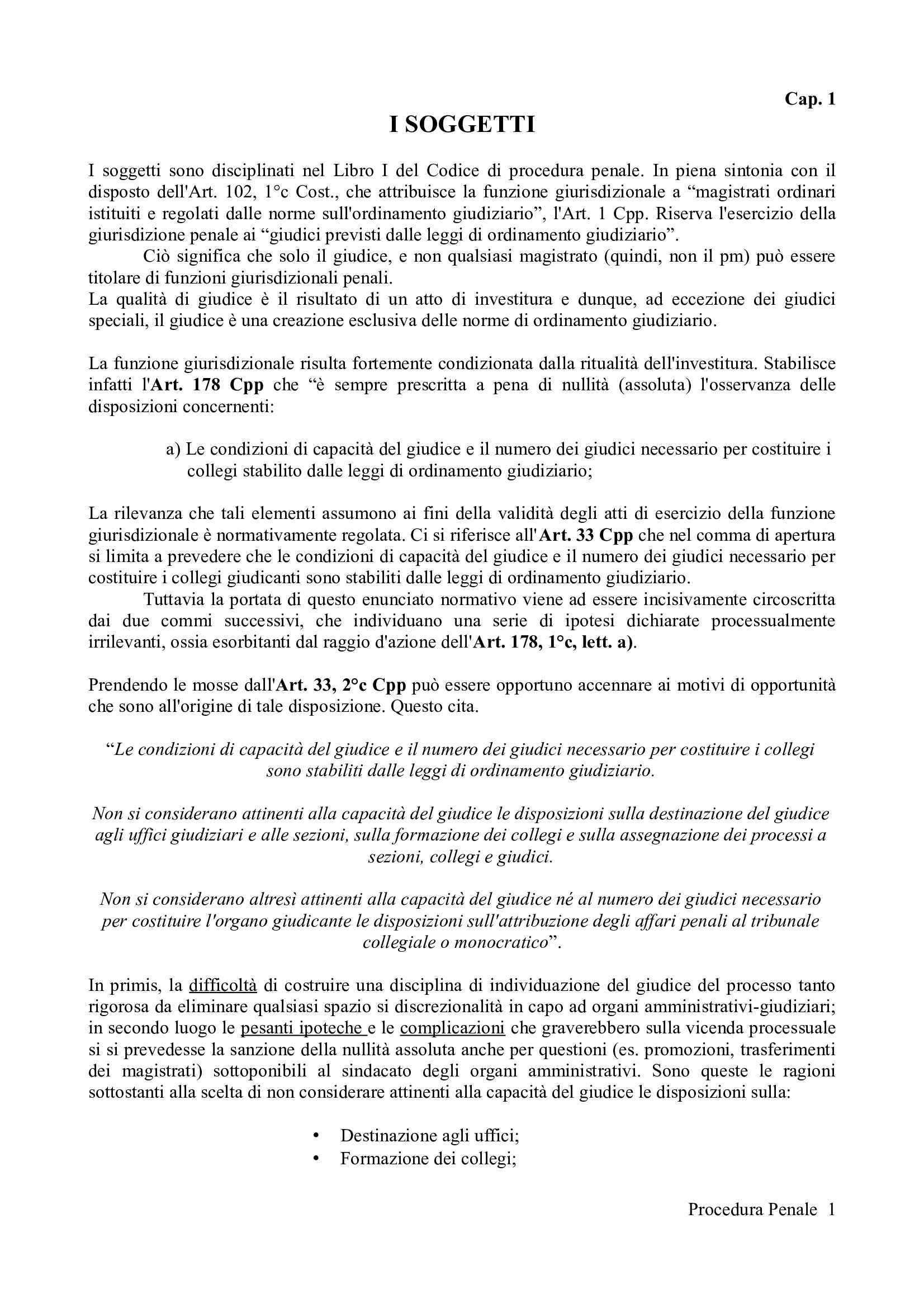 Riassunto esame Procedura Penale, prof. Camon, libro consigliato Procedura Penale, Conso Grevi Pag. 1