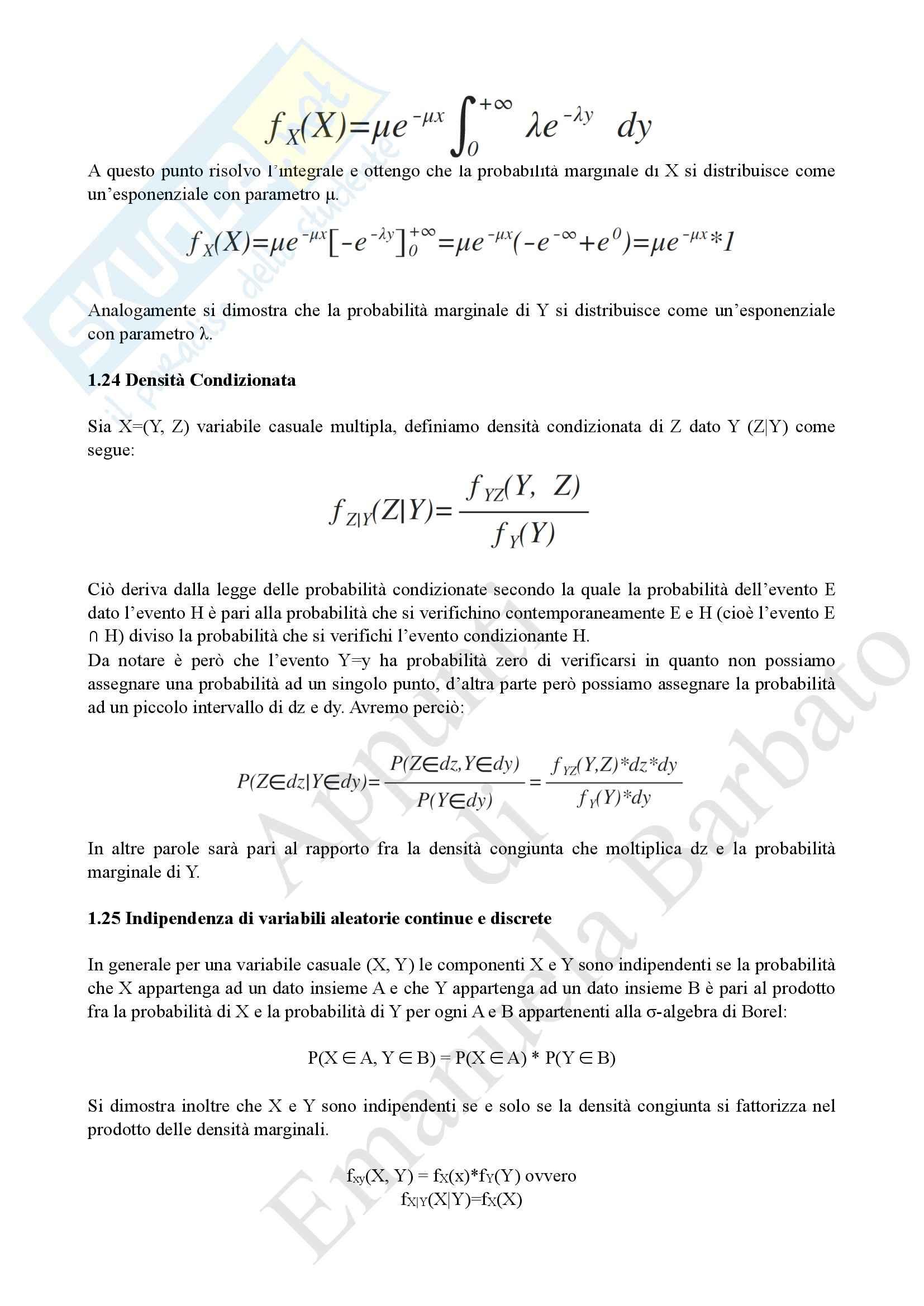 Probabilità e processi stocastici Pag. 31