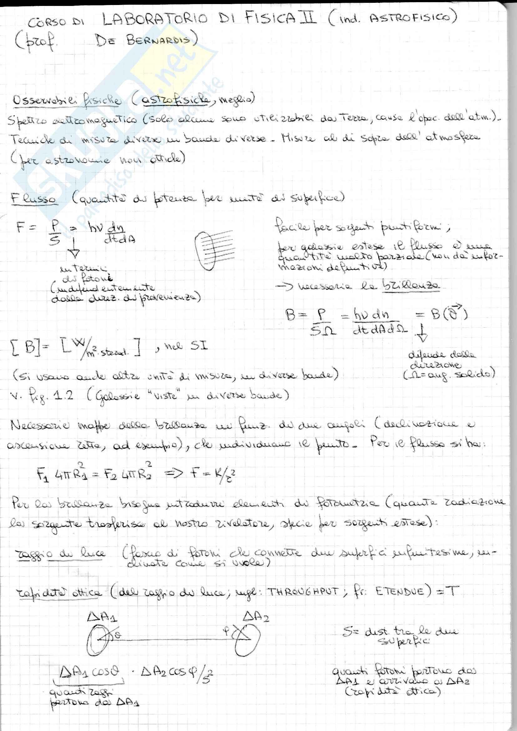 appunto P. De Bernardis Astrofisica