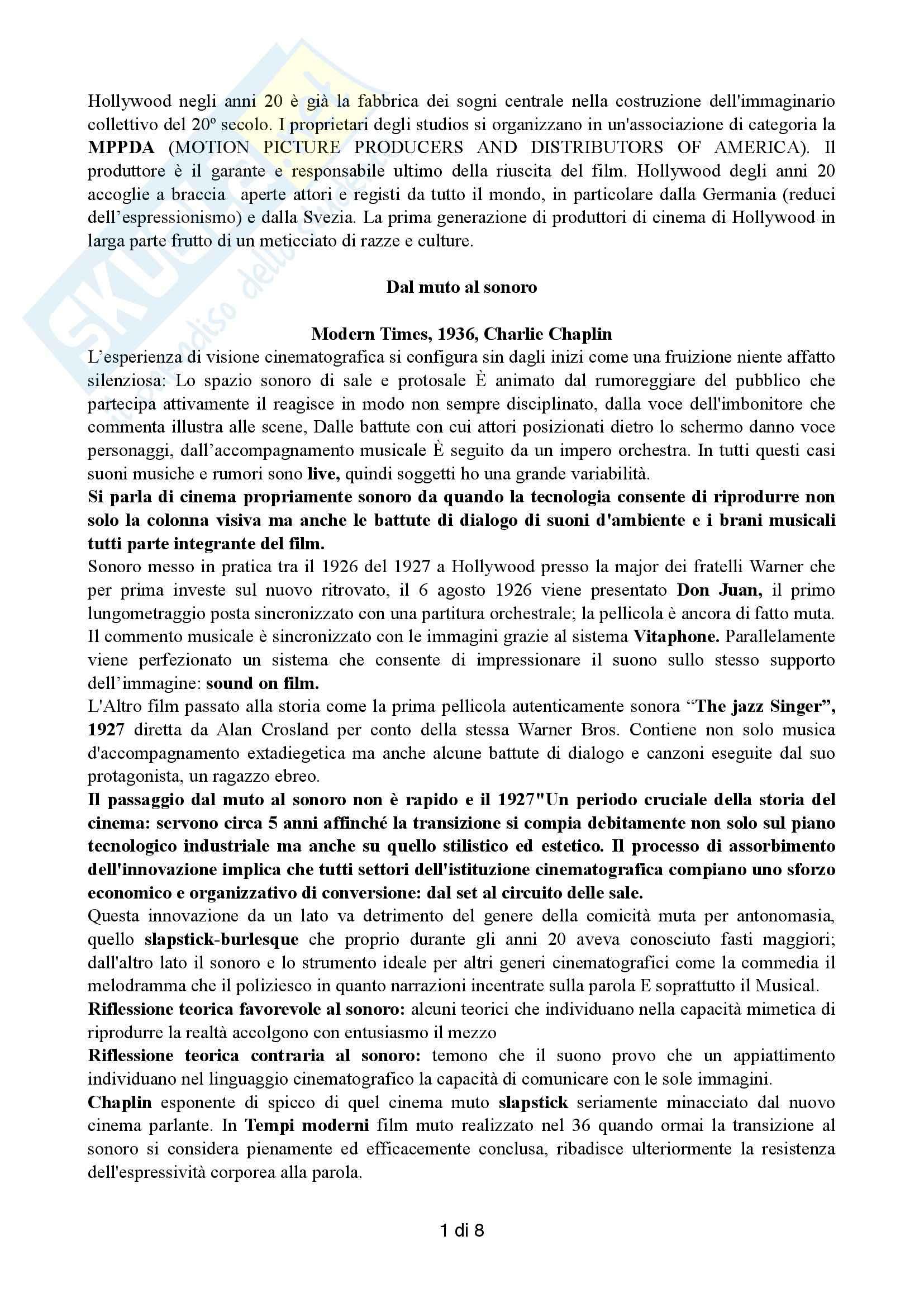 appunto L. Farinotti Storia ed estetica del cinema