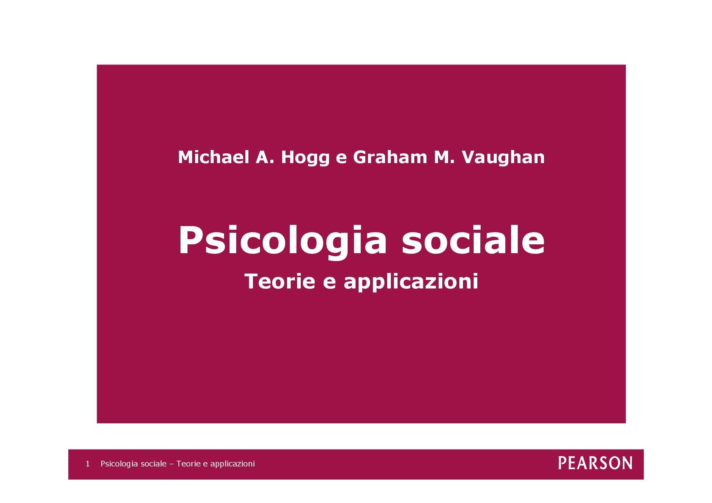 Psicologia sociale - Elementi
