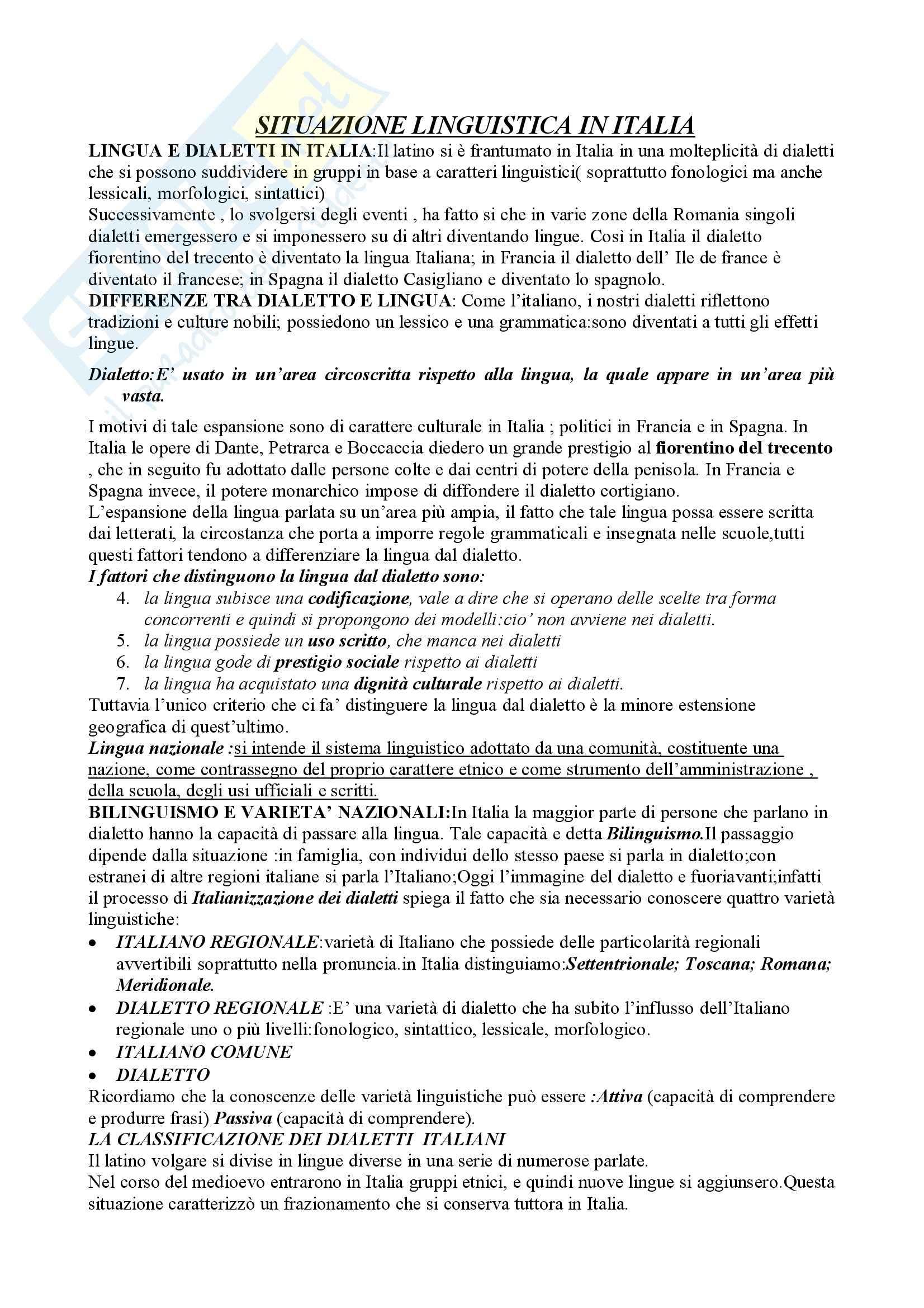 Linguistica Italiana - Appunti Pag. 21