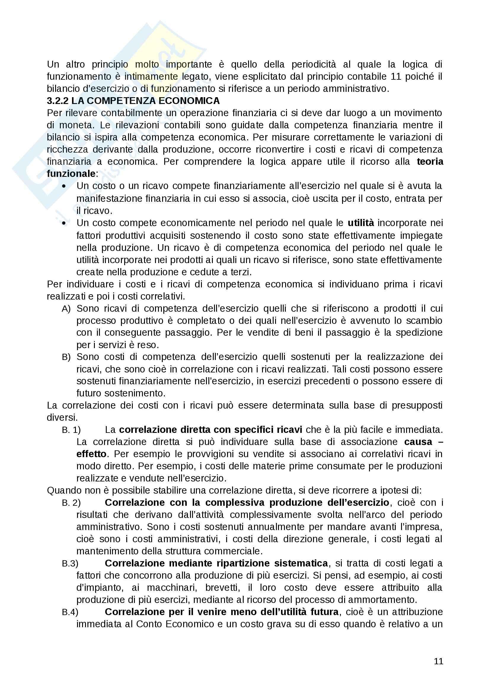 Riassunto esame Contabilità e bilancio, prof. Lepore, libro consigliato Il Bilancio, Giunta , Pisani Pag. 11