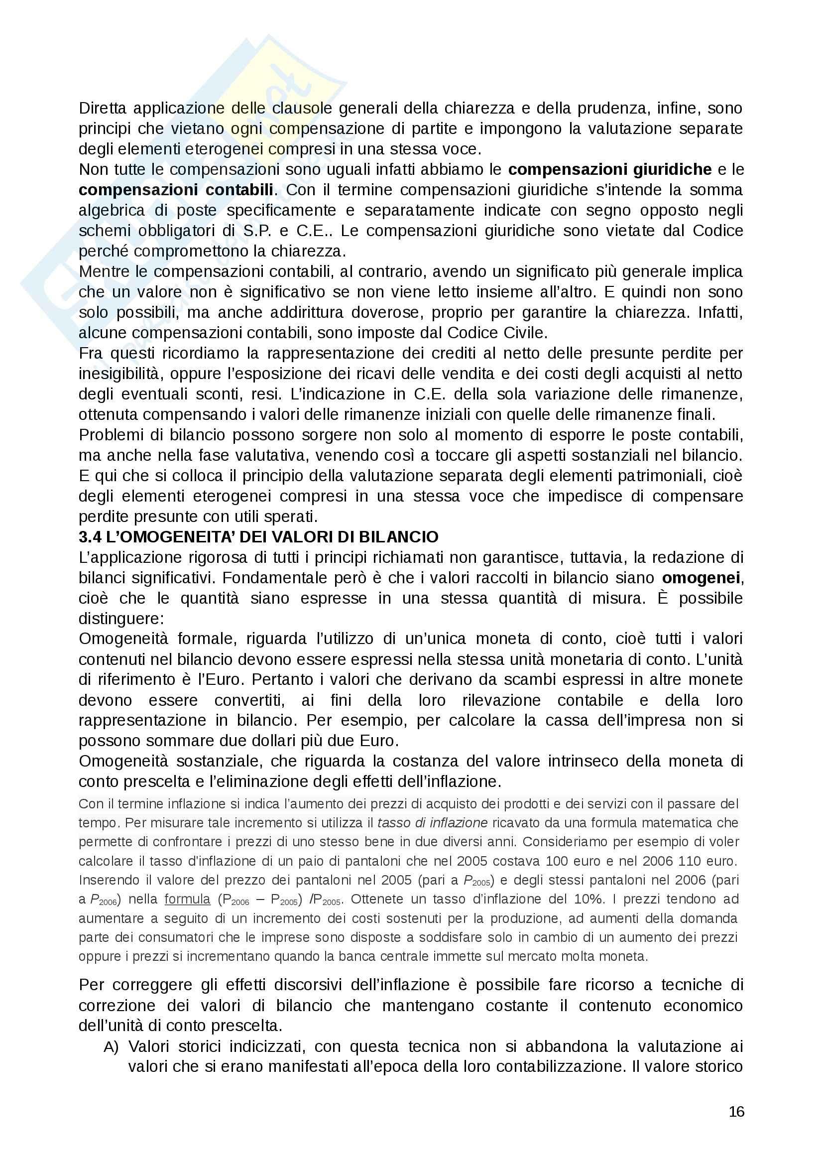 Riassunto esame Contabilità e bilancio, prof. Lepore, libro consigliato Il Bilancio, Giunta , Pisani Pag. 16