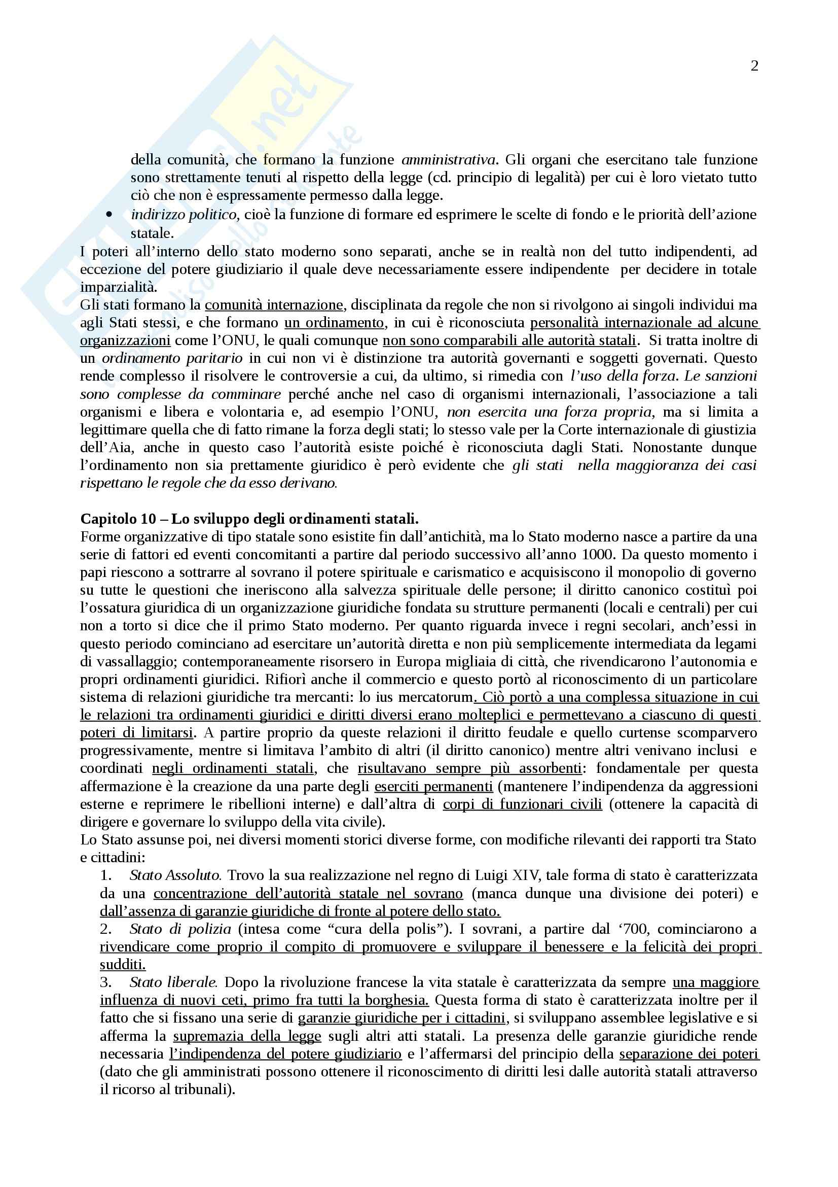 Riassunto esame Istituzioni di diritto pubblico, prof. Cortese, libro consigliato Lineamenti di diritto pubblico, Falcon Pag. 2