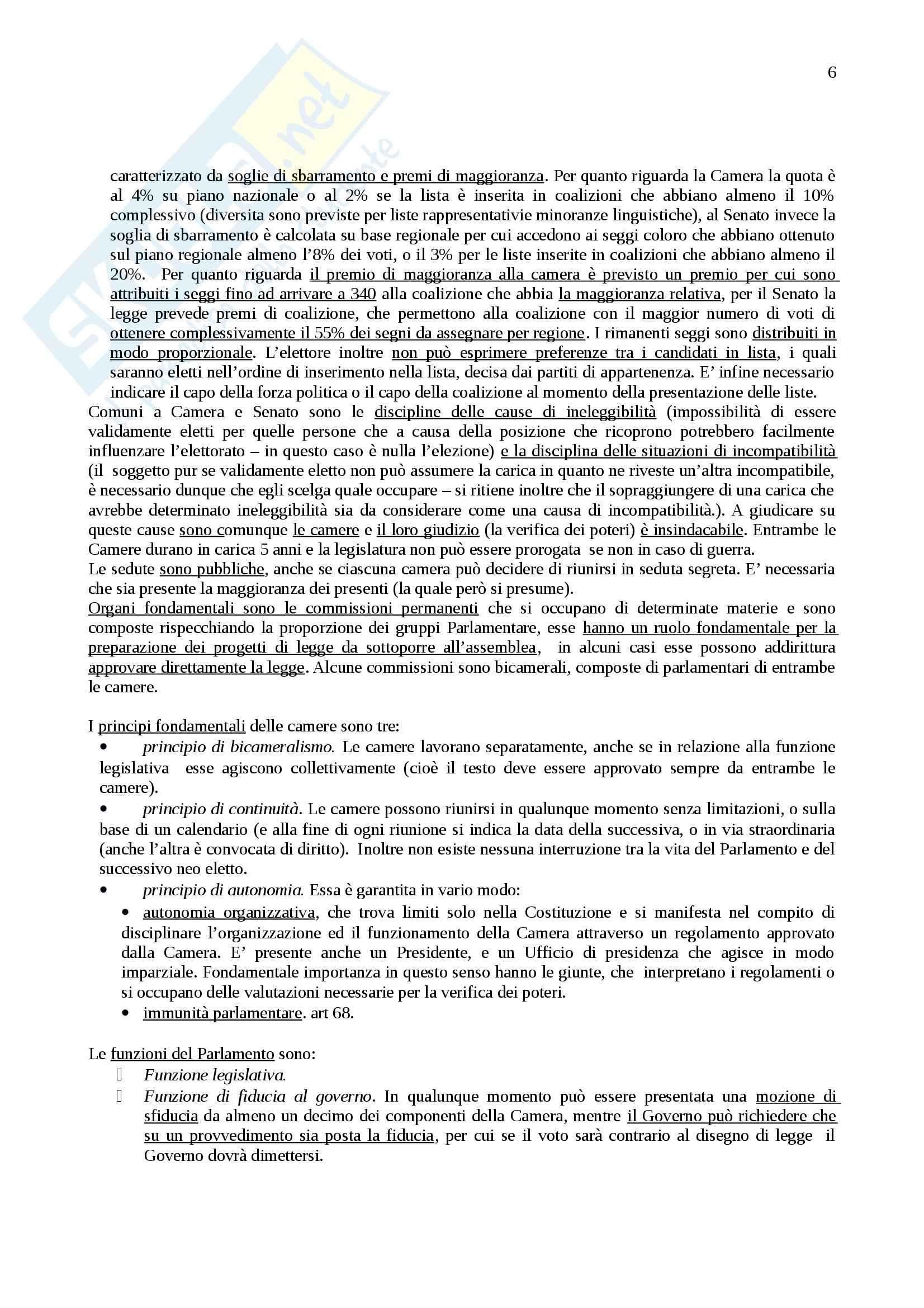 Riassunto esame Istituzioni di diritto pubblico, prof. Cortese, libro consigliato Lineamenti di diritto pubblico, Falcon Pag. 6
