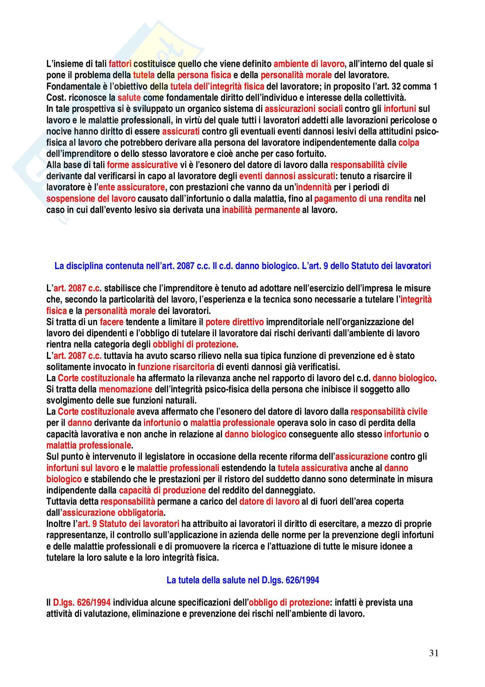 Riassunto esame Diritto del Lavoro, prof. Caruso, libro consigliato Diritto del Lavoro, Carinci Pag. 31