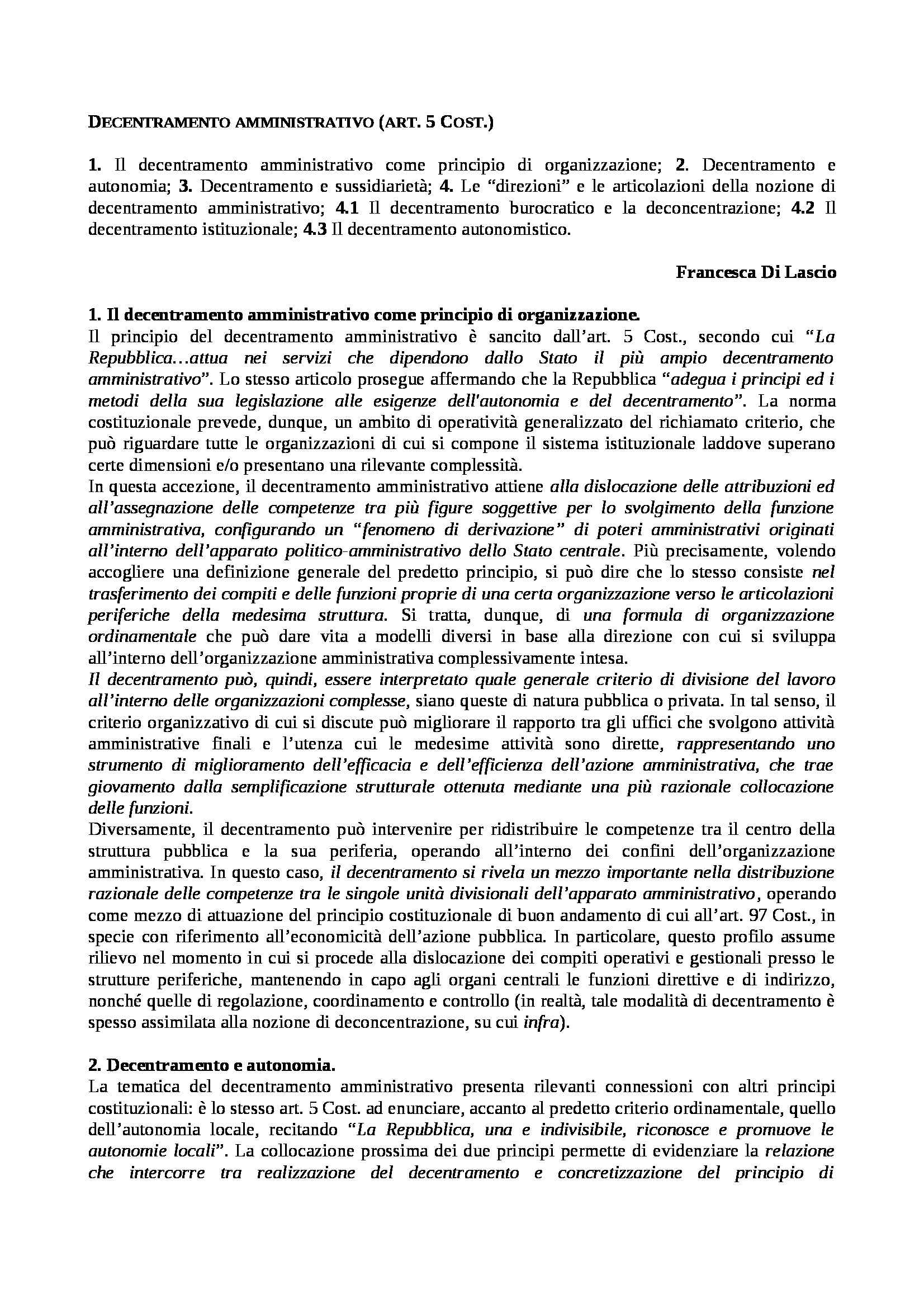 dispensa F. Di Lascio Diritto degli enti locali e dei servizi pubblici