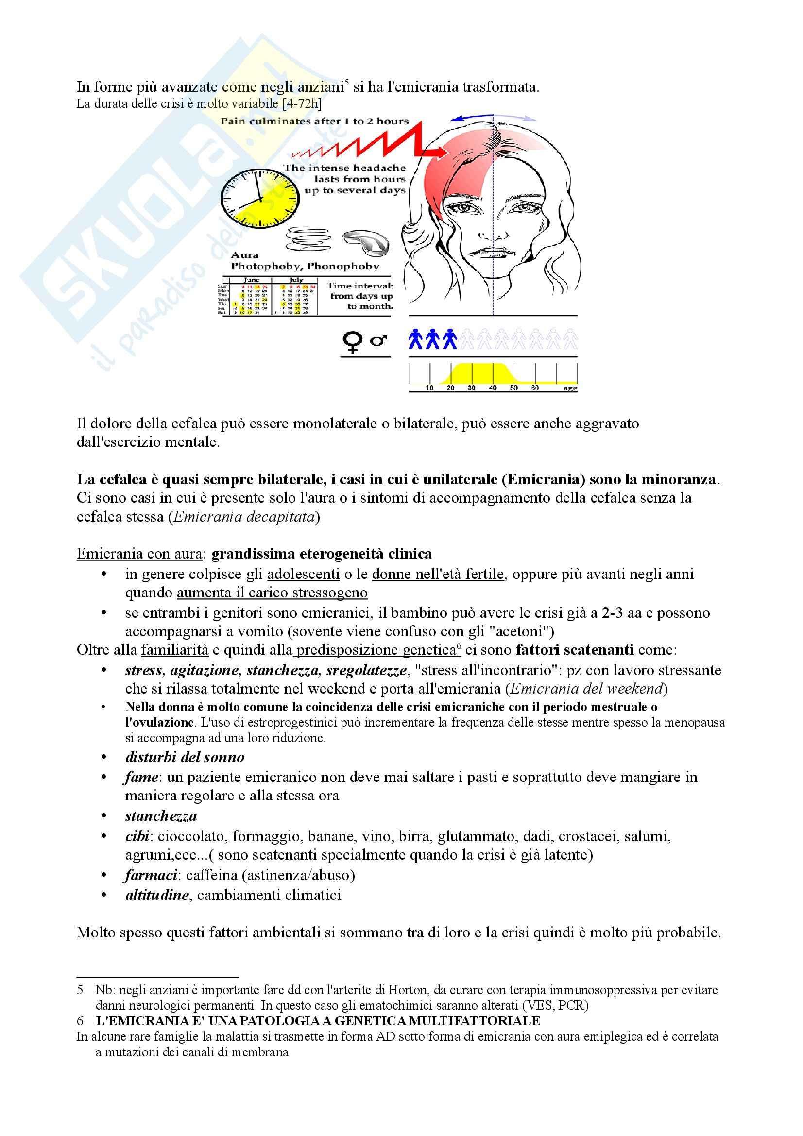 Cefalee e algie facciali, Neurologia Pag. 2