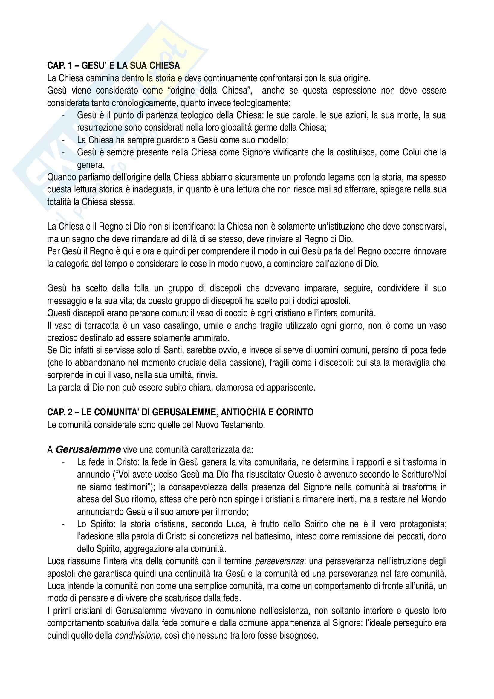 Riassunto esame Teologia, prof. Maggioni, libro consigliato Un tesoro in vasi di coccio, Maggioni