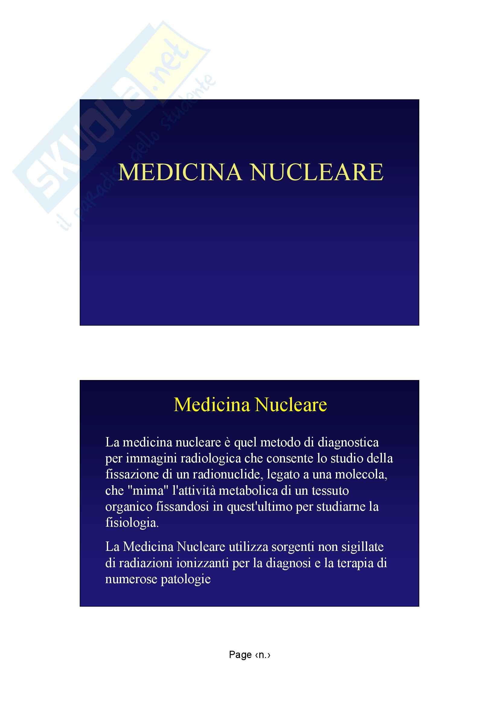 Diagnostica per immagini - Medicina nuleare