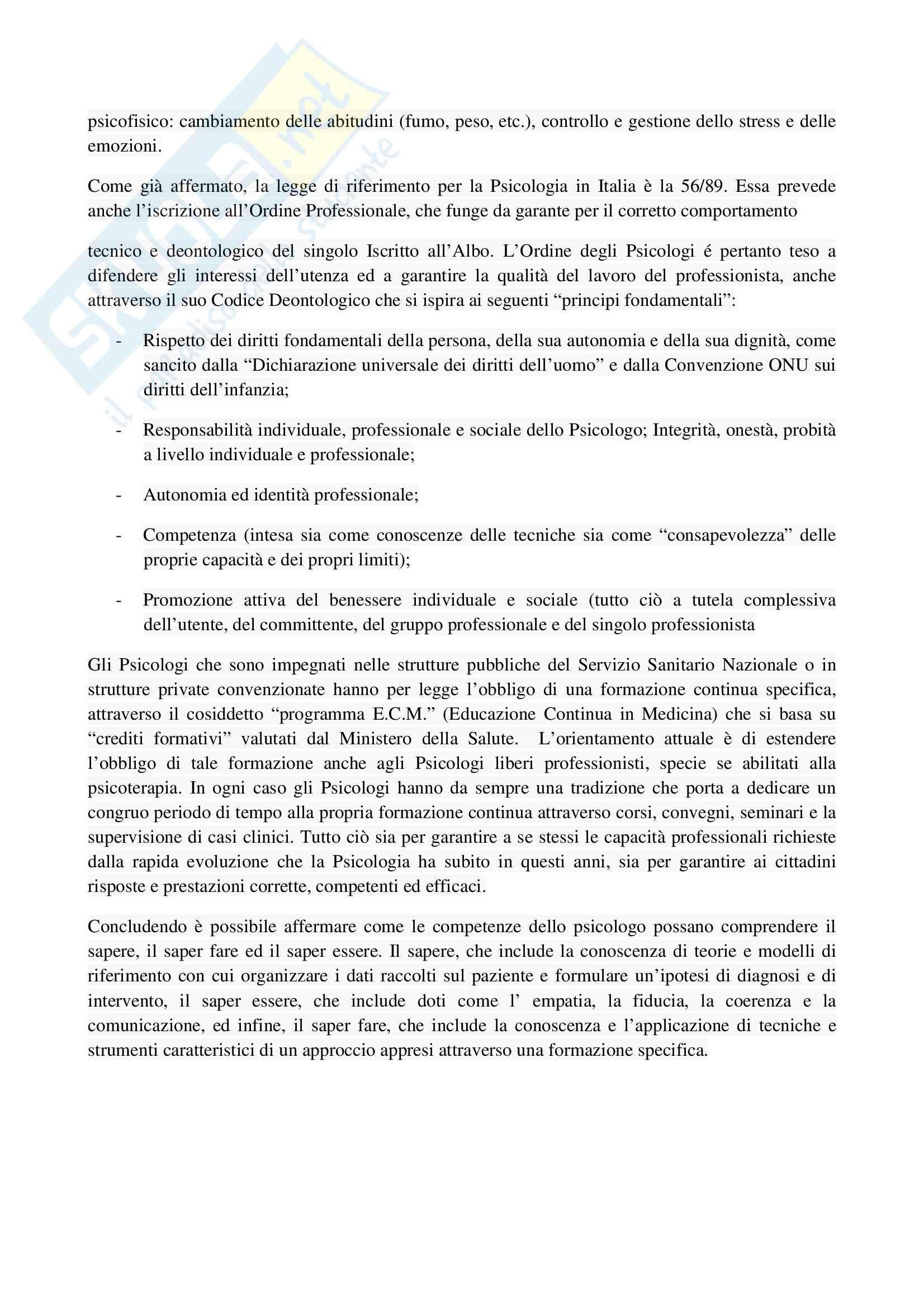 TEMI SVOLTI ESAME DI STATO PSICOLOGO SECONDA PARTE Pag. 26