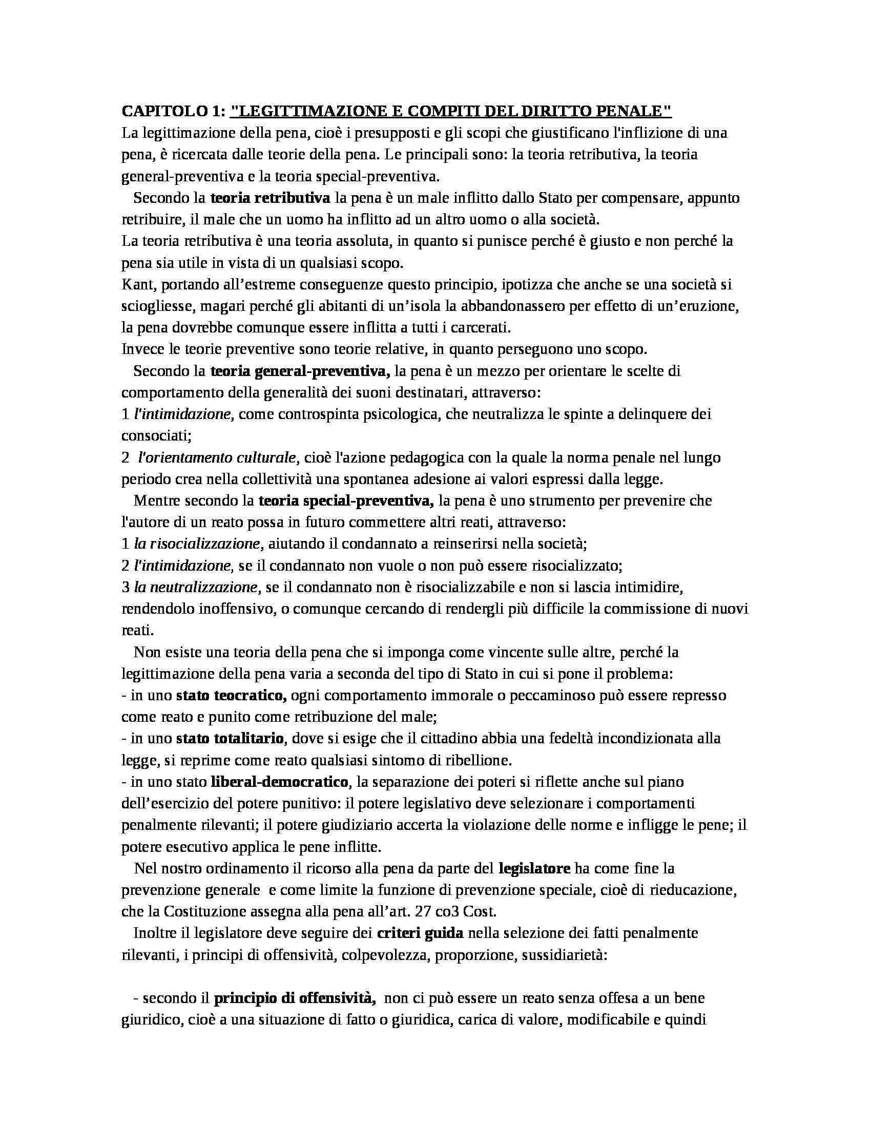 Riassunto esame Diritto Penale, prof. D'Ascola, libro consigliato Manuale di Diritto Penale, Marinucci, Dolcini