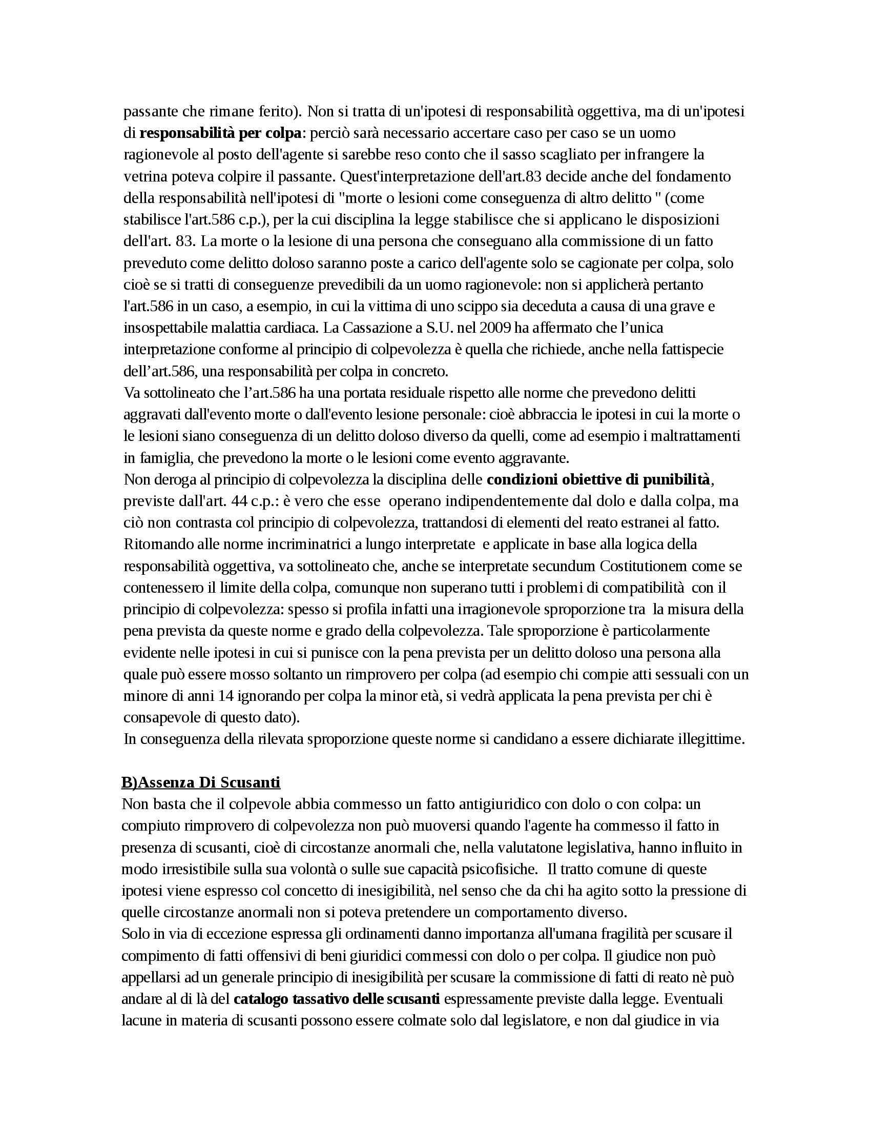 Riassunto esame Diritto Penale, prof. D'Ascola, libro consigliato Manuale di Diritto Penale, Marinucci, Dolcini Pag. 76