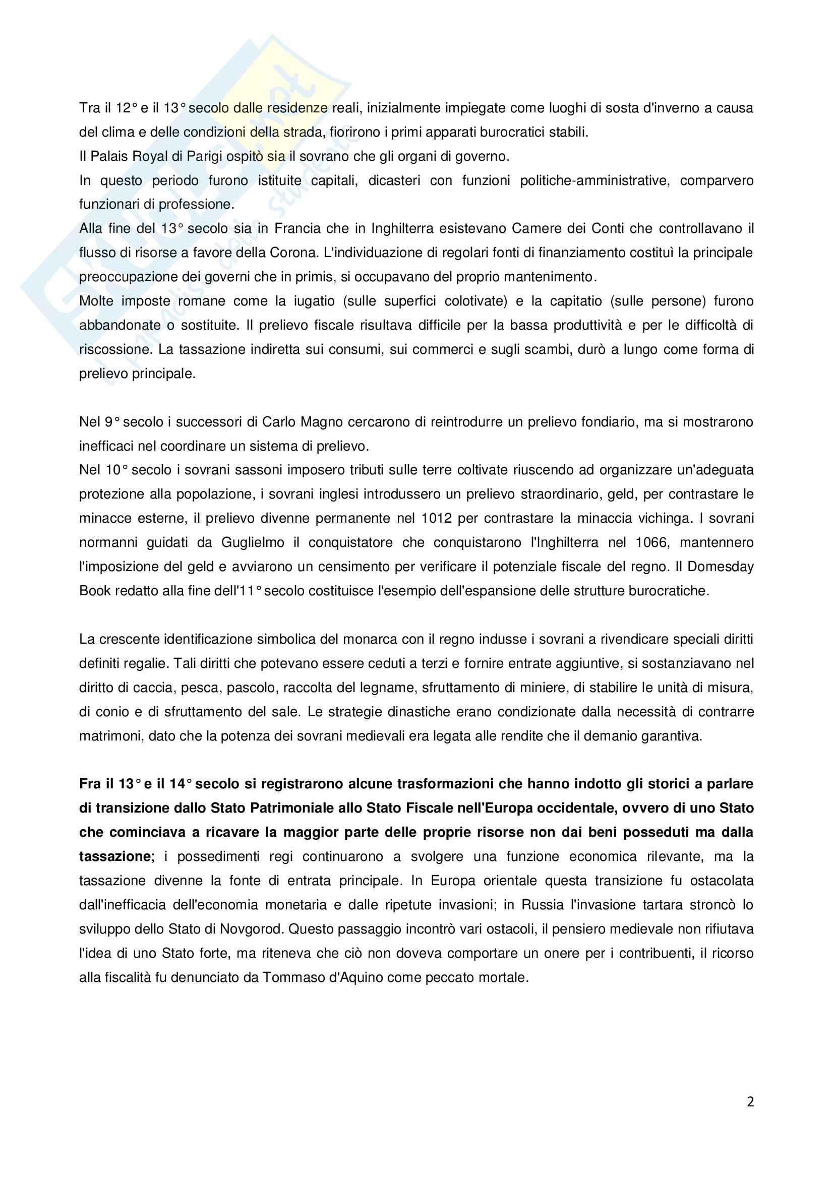 Storia della finanza pubblica Pag. 2