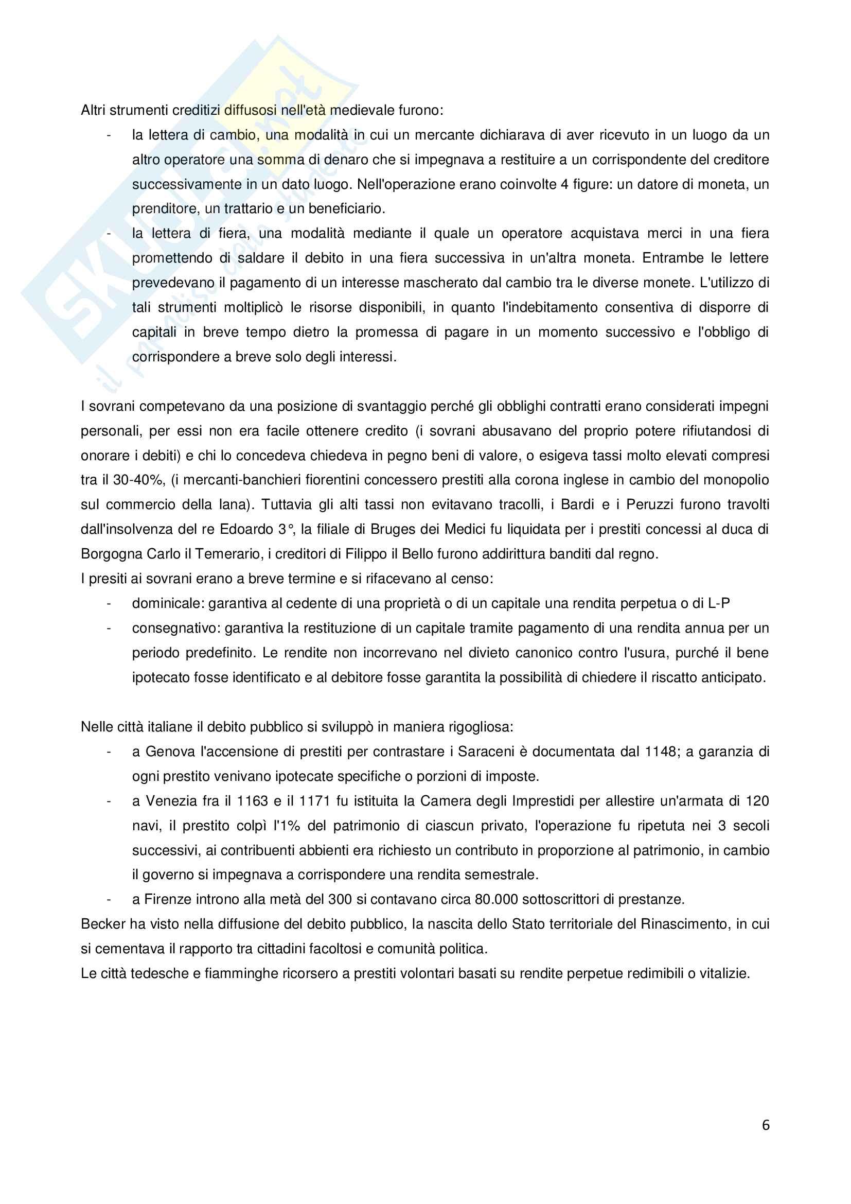Storia della finanza pubblica Pag. 6