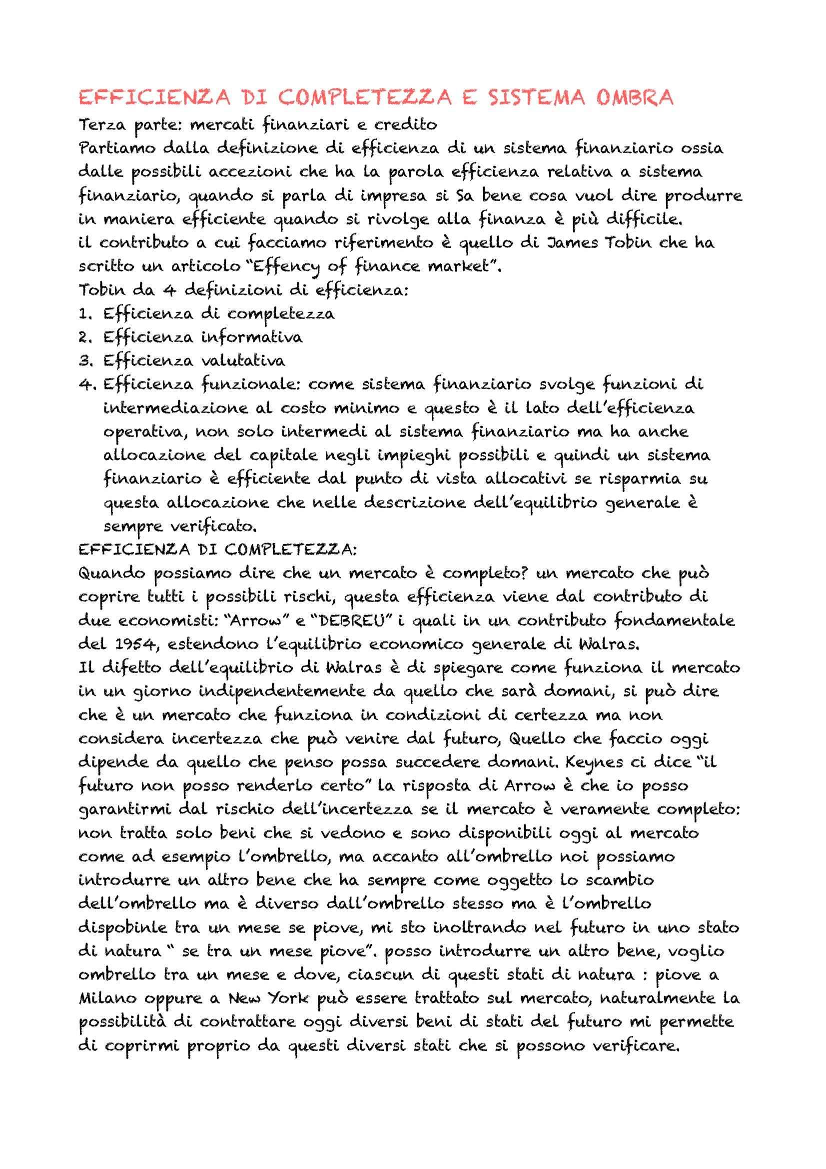 appunto G. Nardozzi Economia monetaria e dei mercati finanziari