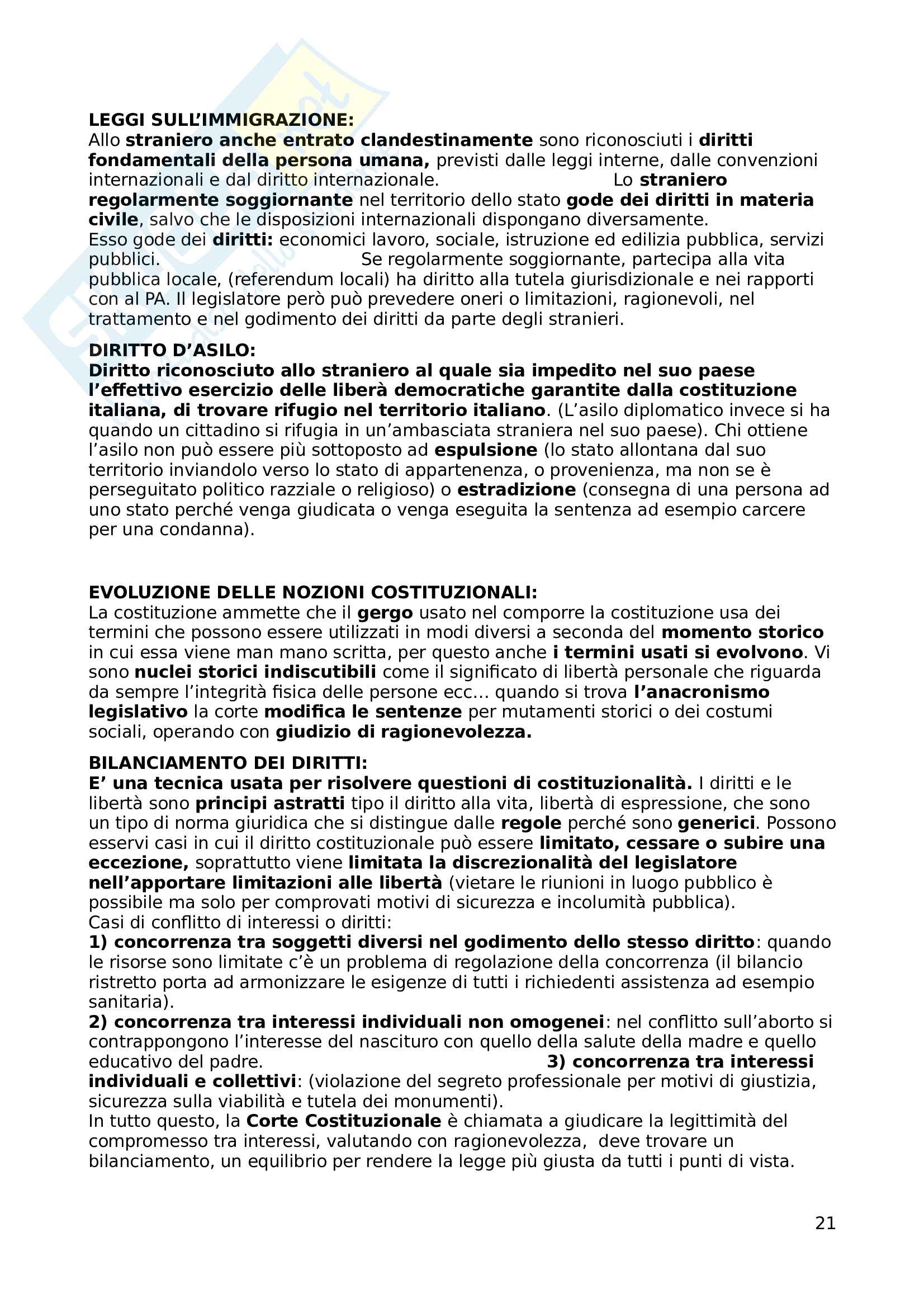 Riassunto Esame Istituzioni di diritto pubblico, prof. Fares, libro consigliato Lineamenti di diritto pubblico per assistenti sociali , Bin, Donati e Pitruzzella Pag. 21