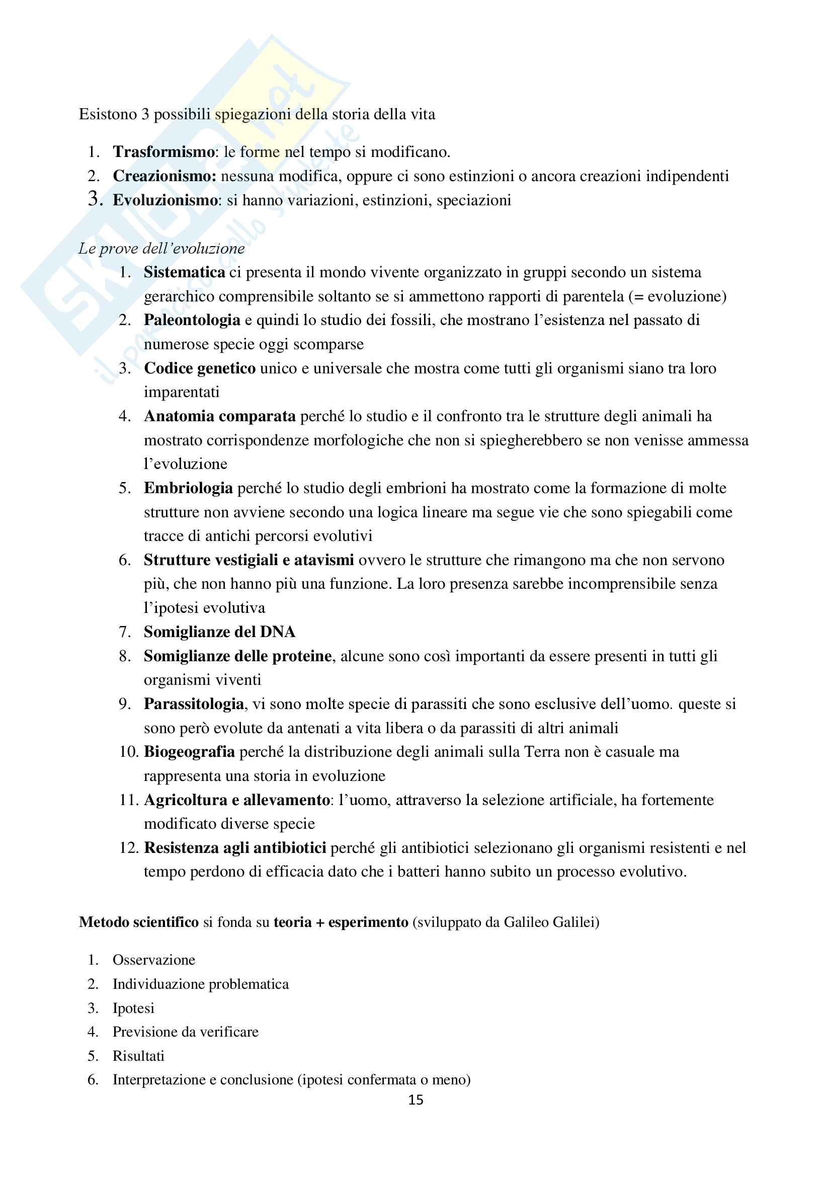 Appunti di Zoologia per l'esame del corso di laurea triennale in Scienze Biologiche (Università Milano Bicocca) Pag. 16