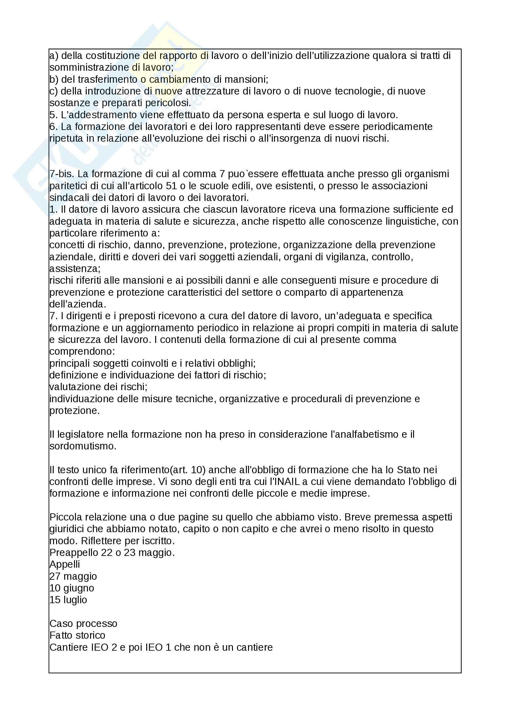 Diritto della sicurezza del lavoro - nozioni Pag. 41
