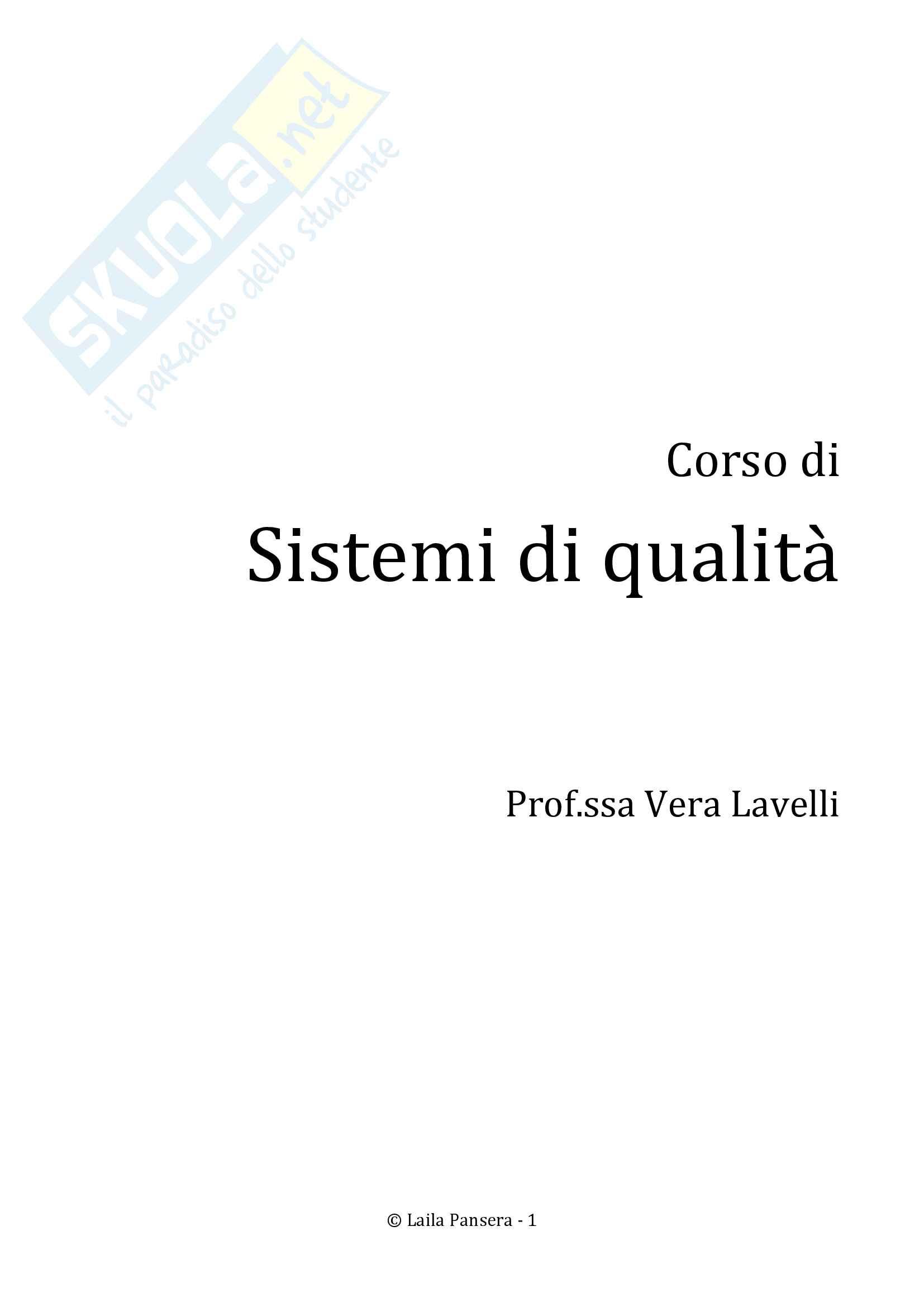 Sistemi di qualità