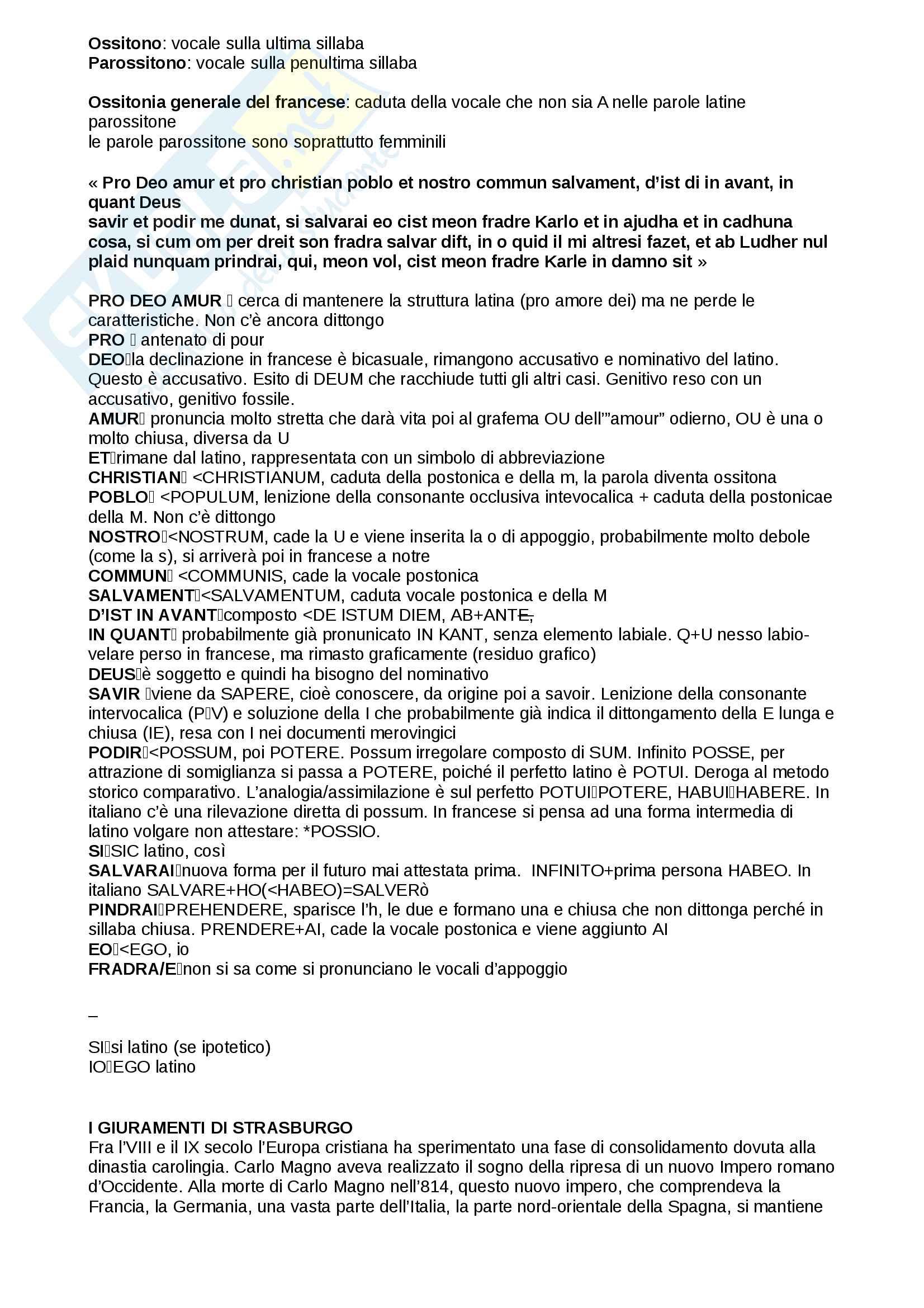 Giuramenti di Strasburgo - contesto storico e analisi linguistica