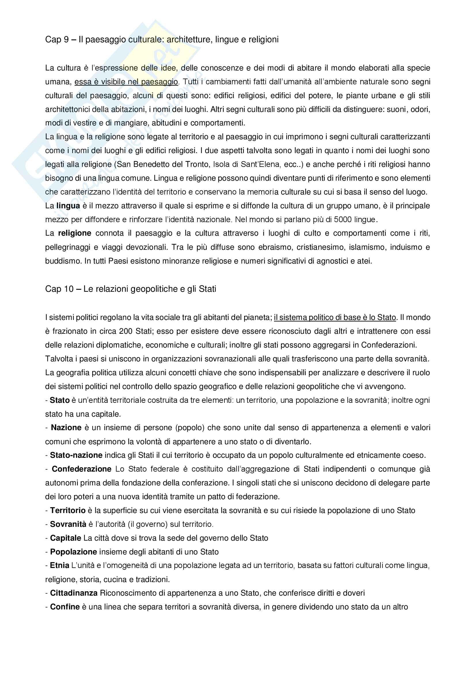 Riassunto esame Geografia, prof. Molinari, libro consigliato Professione geografo, Simonetta, Giorda Pag. 6