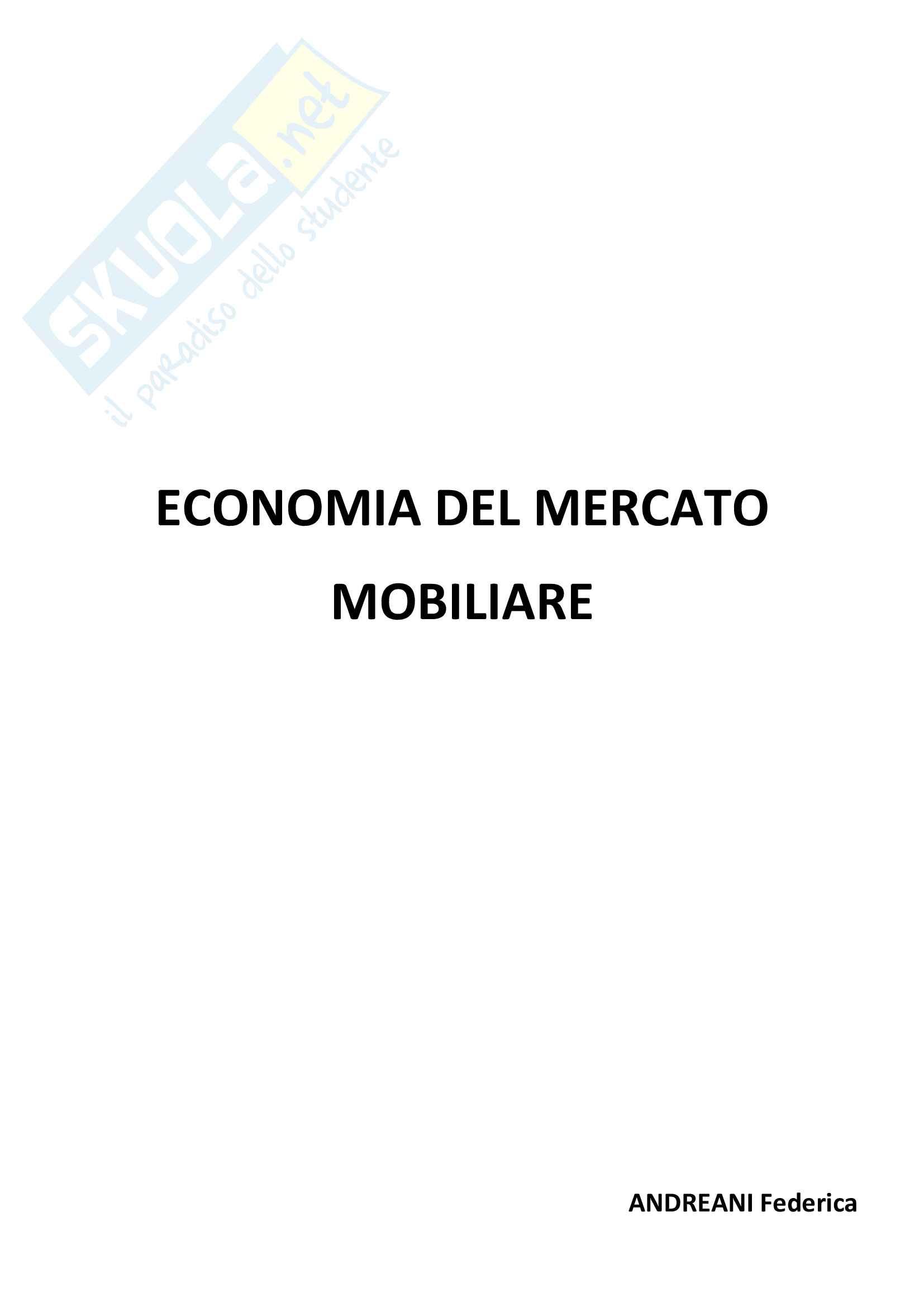 appunto M. Damilano Economia del mercato mobiliare