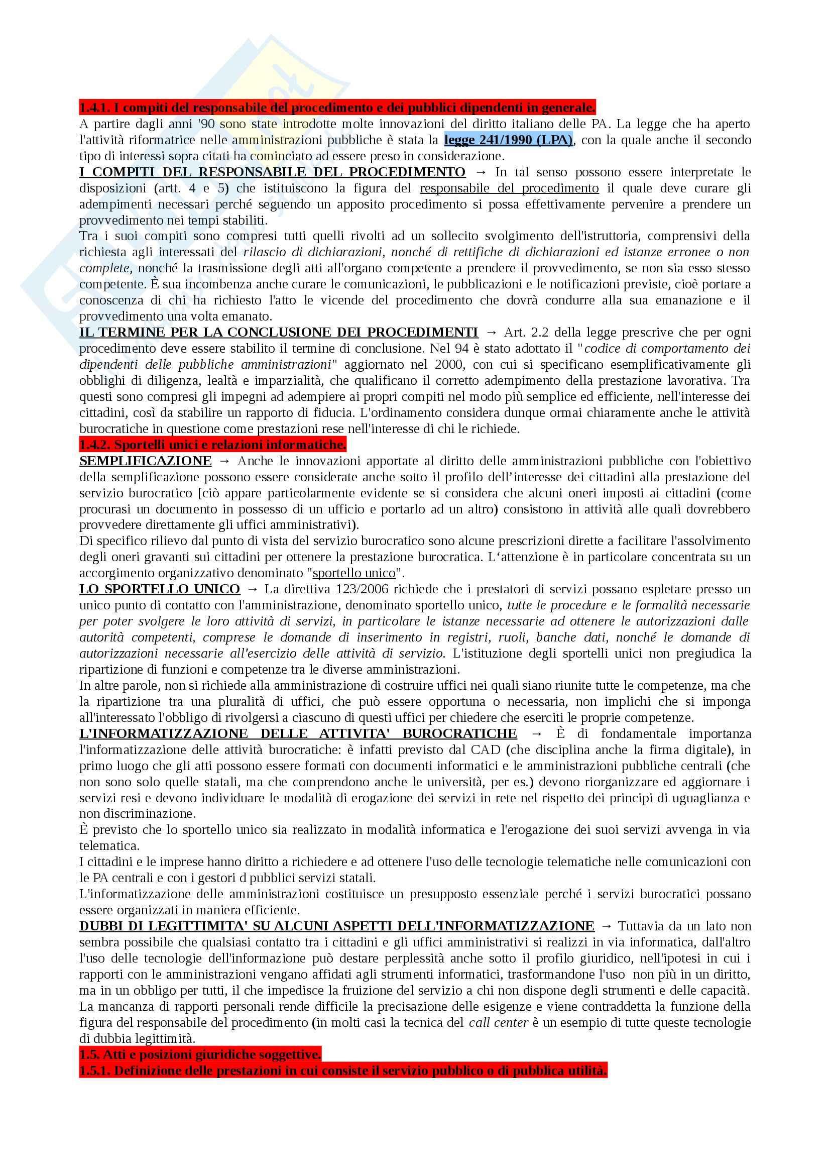 Riassunto esame Diritto Amministrativo I, prof. Marzuoli, libro consigliato Diritto delle Amministrazioni Pubbliche di Sorace Pag. 41